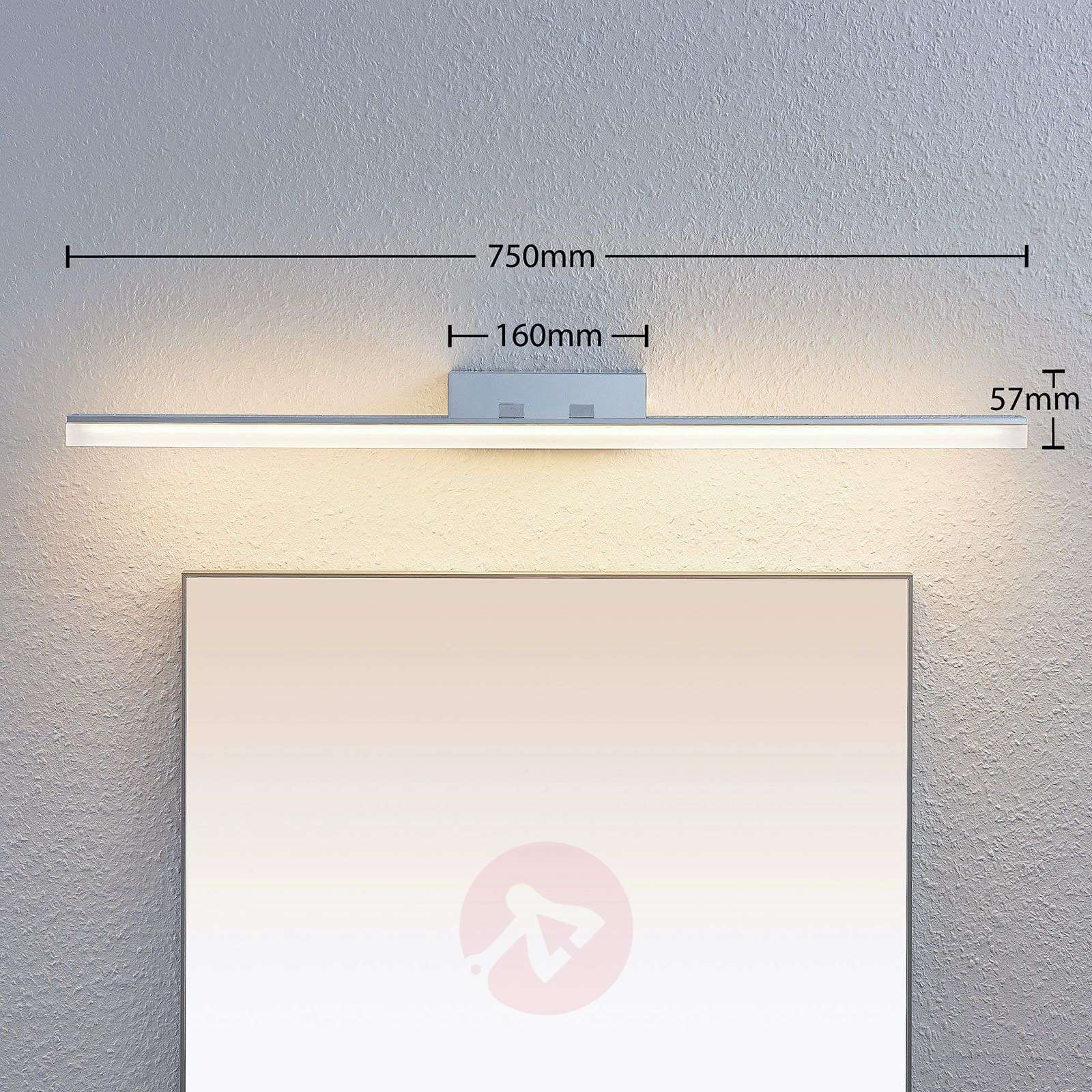 LED-peilivalaisin Bernie, CCT, IP44, 75 cm