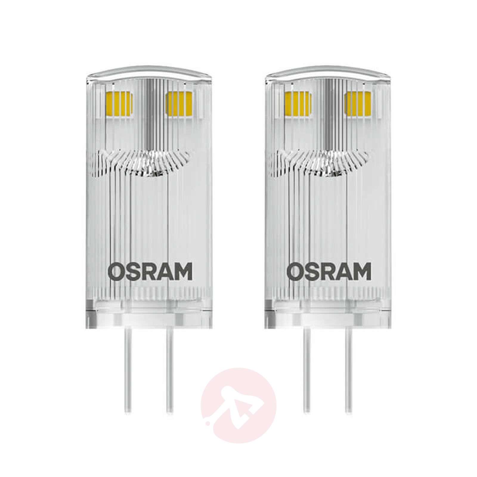 LED-piikkikantalamppu G4 0,9W, lämmin valk., 2 kpl-7262095-01