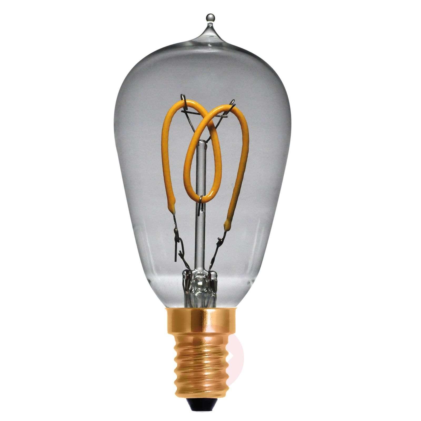 LED-pisaralamppu Curved Line E14 2,7W 922, 360degree-8536159-01