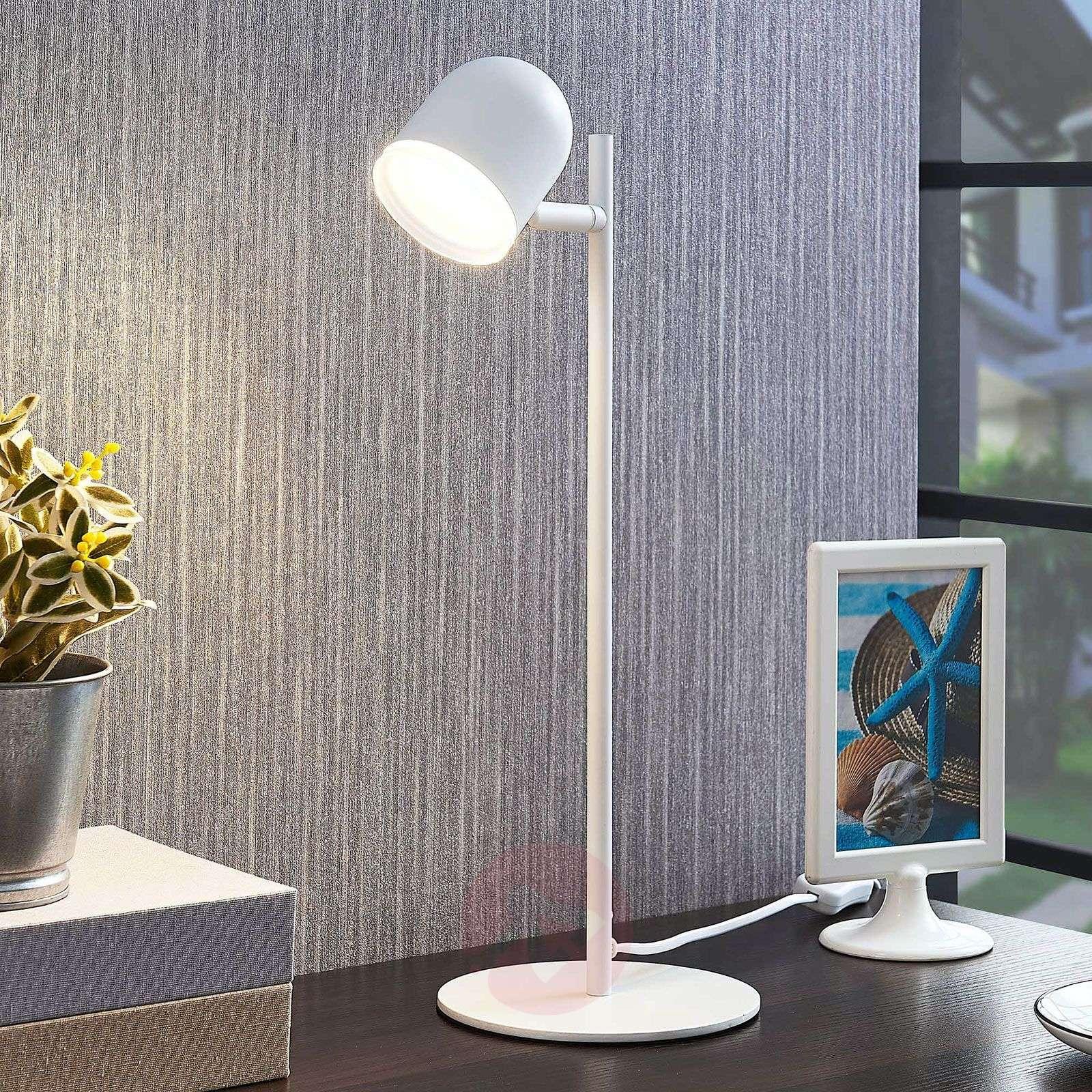 LED-pöytälamppu Ilka, valkoinen, kytkin-9643087-04