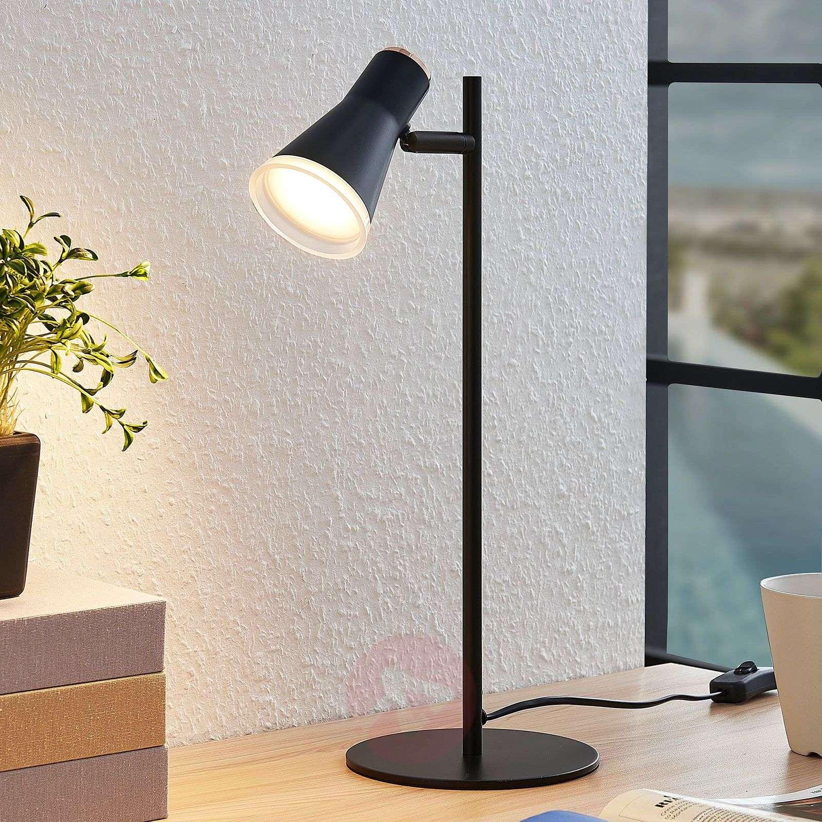 LED-pöytälamppu Michiko, kytkin, musta-9643083-04
