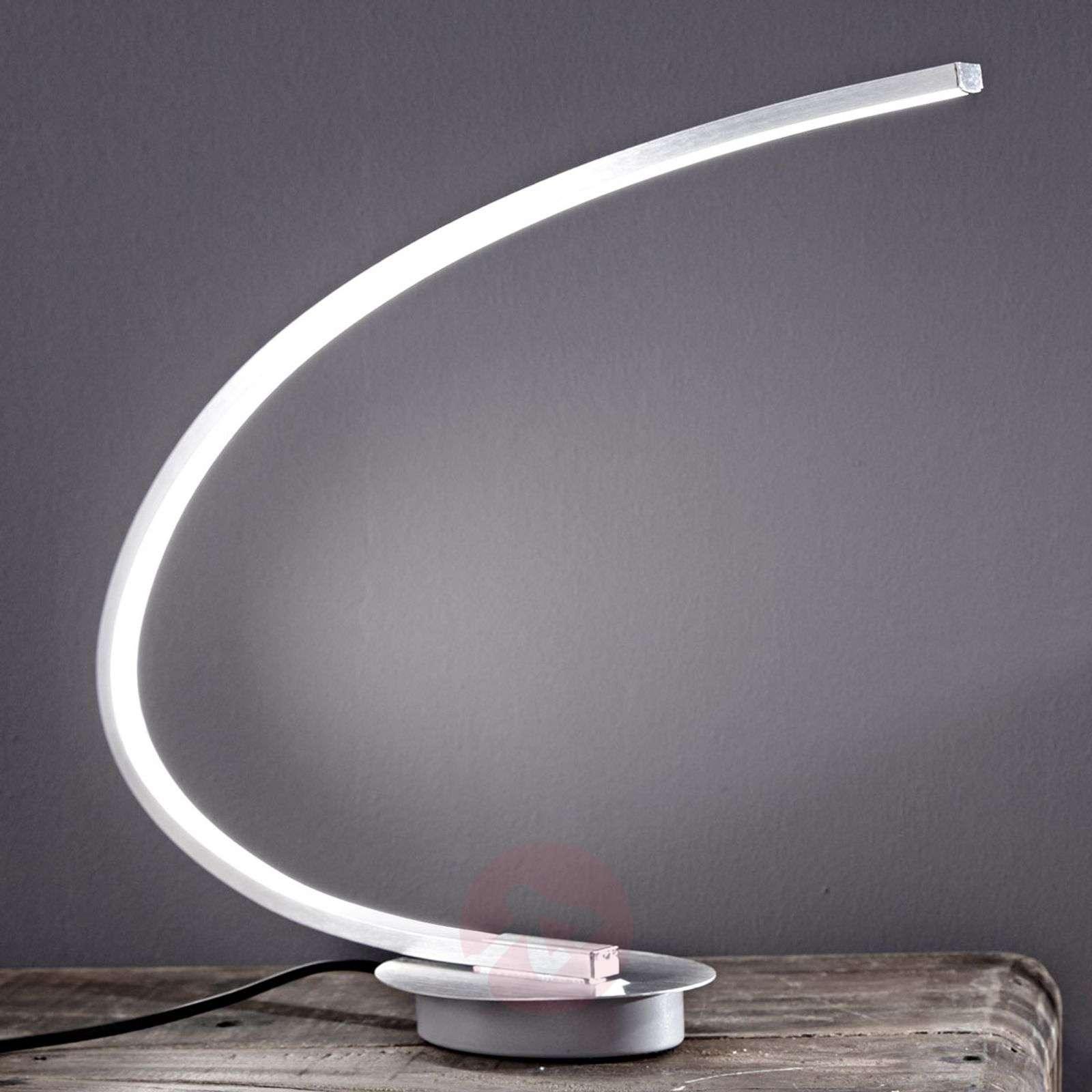 LED-pöytälamppu Nalevi, kaaren muoto, hopea-8032137-01
