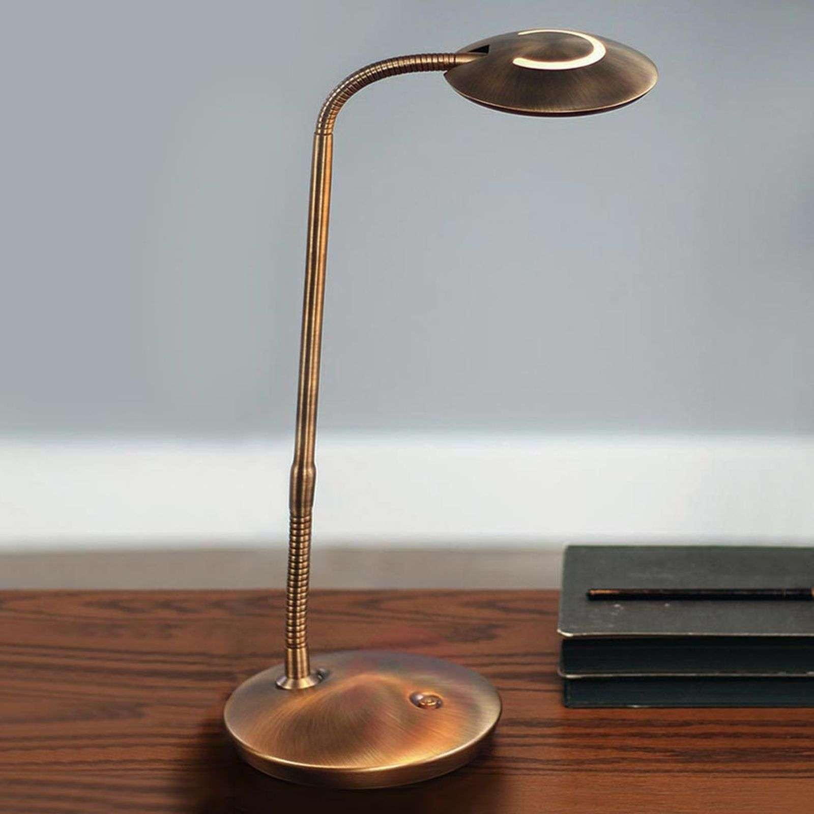 LED-pöytälamppu Zenith himmentimellä, pronssi-8509717-01