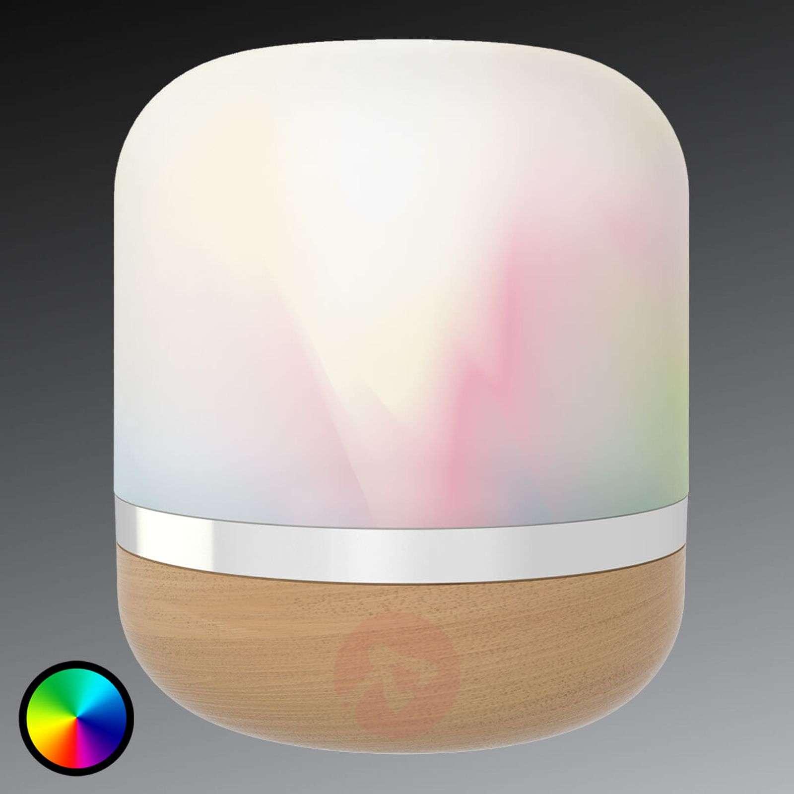 LED-pöytävalaisin HERO WiZ puuilmeisellä jalalla-9038094-01