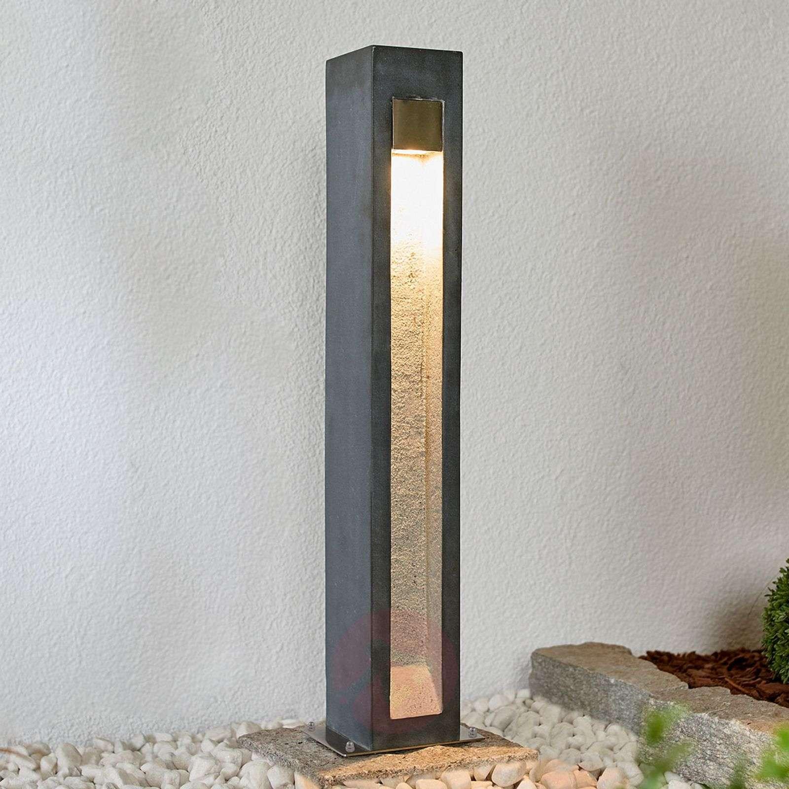 LED-pollarivalaisin Adejan, basalttikiveä, 70 cm-9943007-02