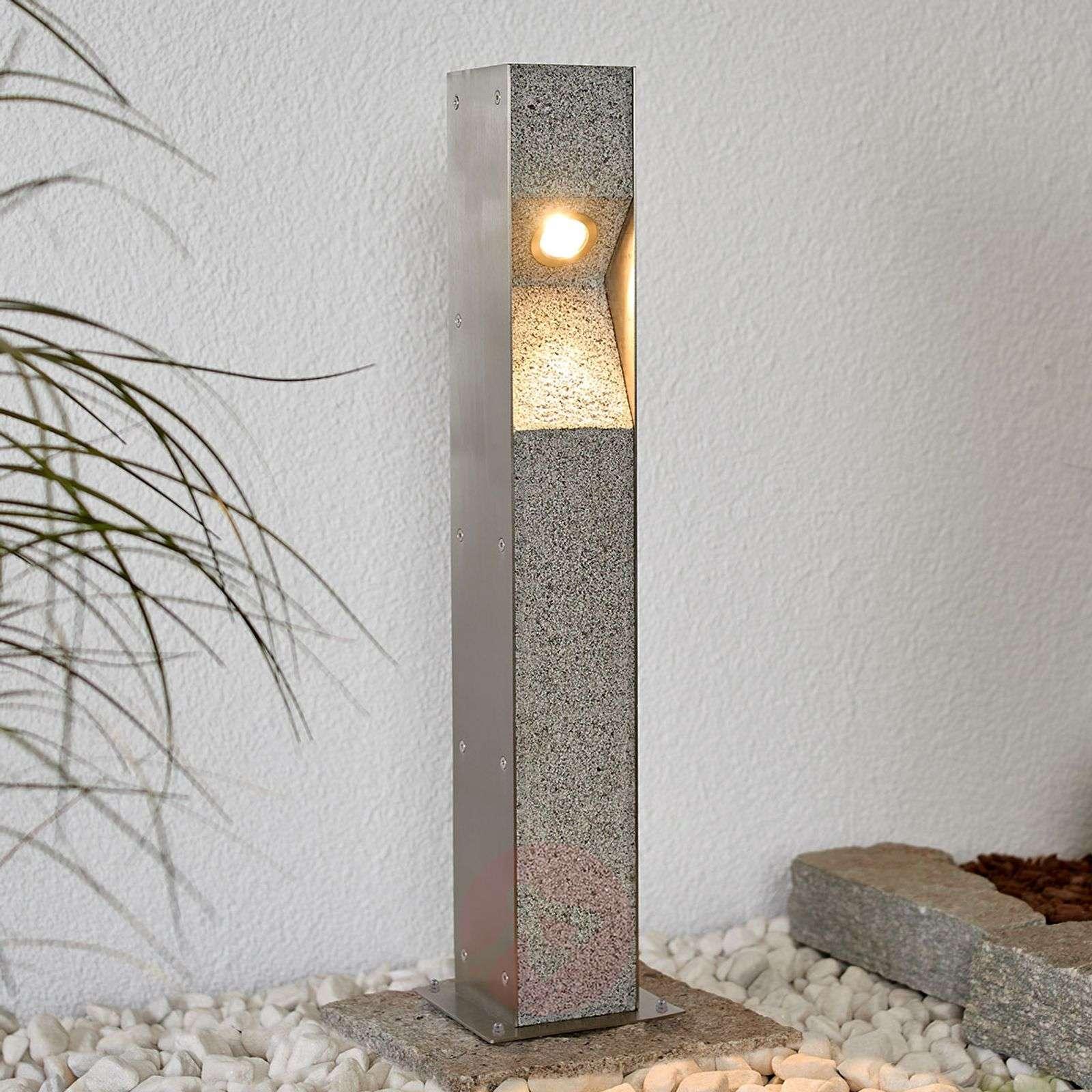 LED-pollarivalaisin Amelia, graniittia, 60 cm
