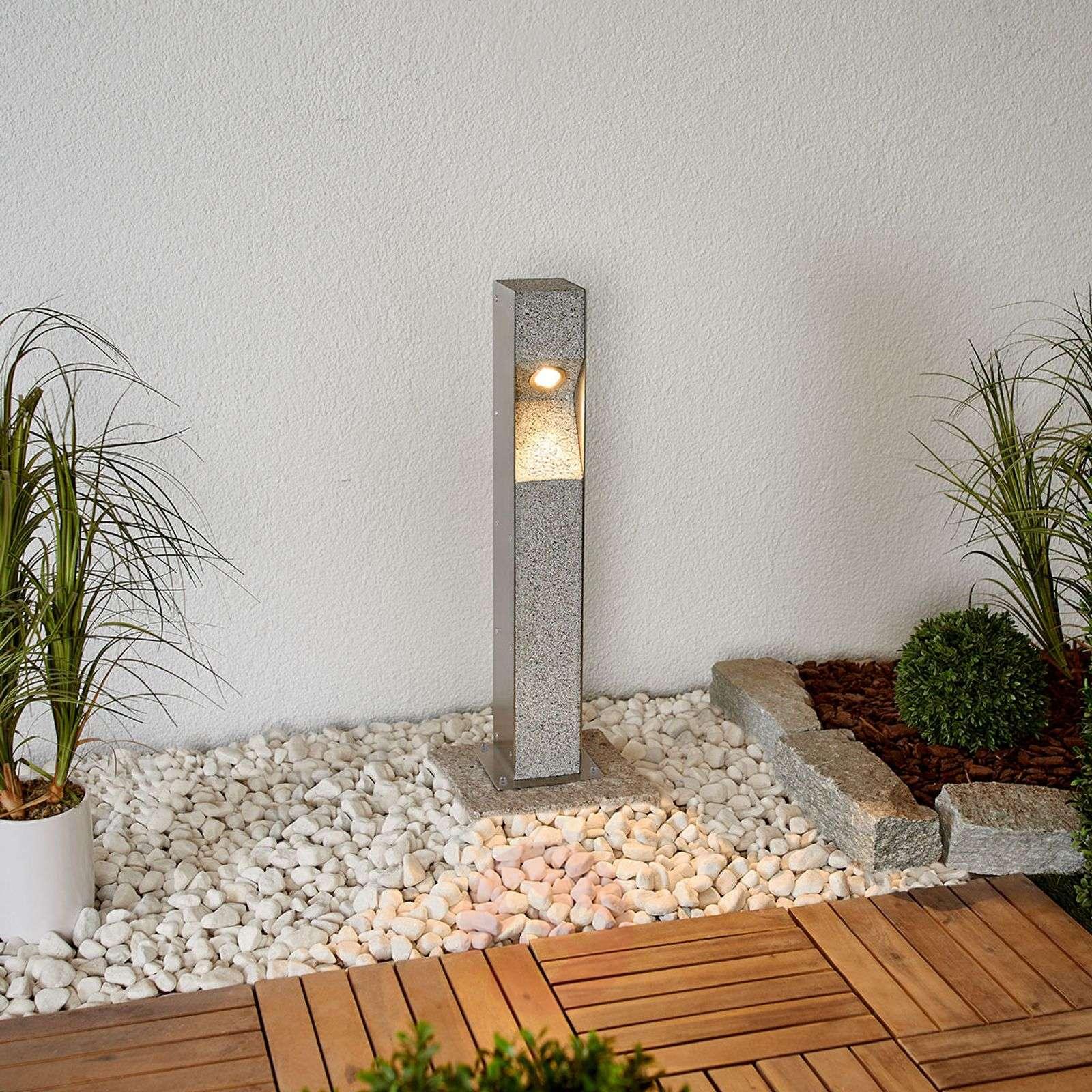 LED-pollarivalaisin Amelia, graniittia, 60 cm-9943001-02