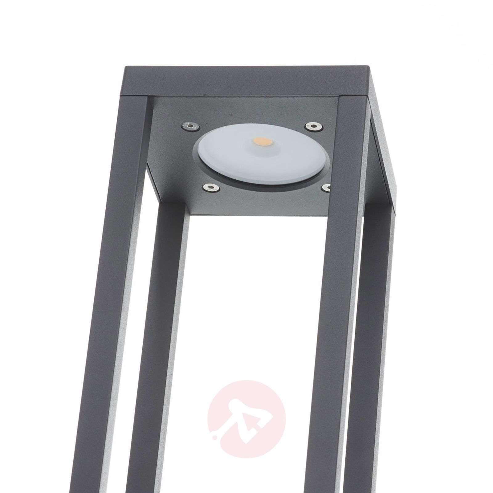 LED-pollarivalaisin Carlota, tummanharmaa, 50 cm-9616149-02