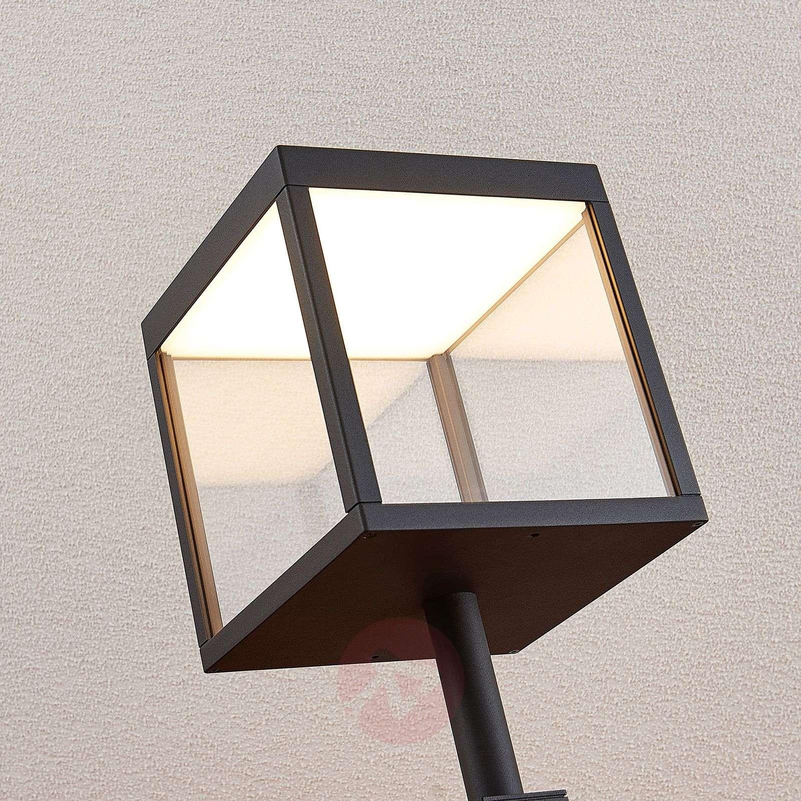 LED-pylväsvalaisin Cube, grafiitinharmaa, IP54-9619163-03