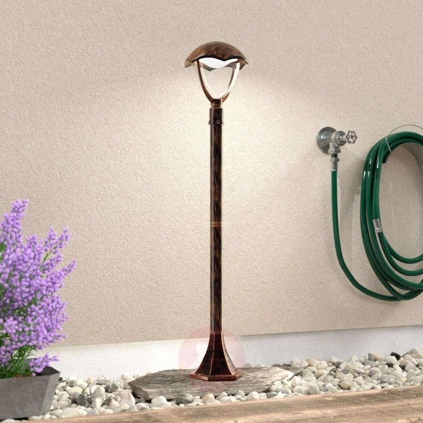 LED-pylväsvalaisin Gracht antiikin ruosteen väri-9005324-01