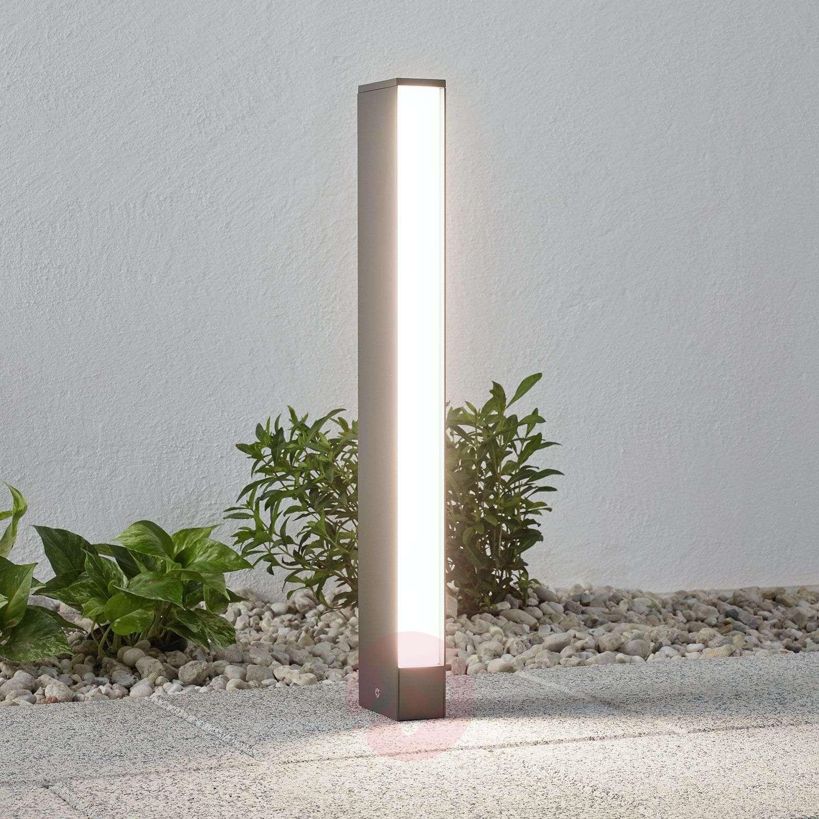 LED-pylväsvalaisin Lirka, tummanharmaa, 1-lampp.-9969104-02