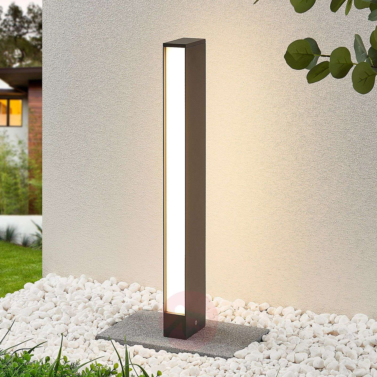 LED-pylväsvalaisin Lirka, tummanharmaa, 2-lampp.-9969105-02