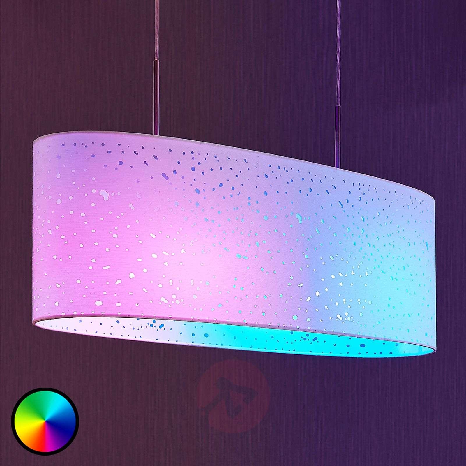LED-RGB-riippuvalaisin Alwine, pistekuvio, soikea-9624185-02