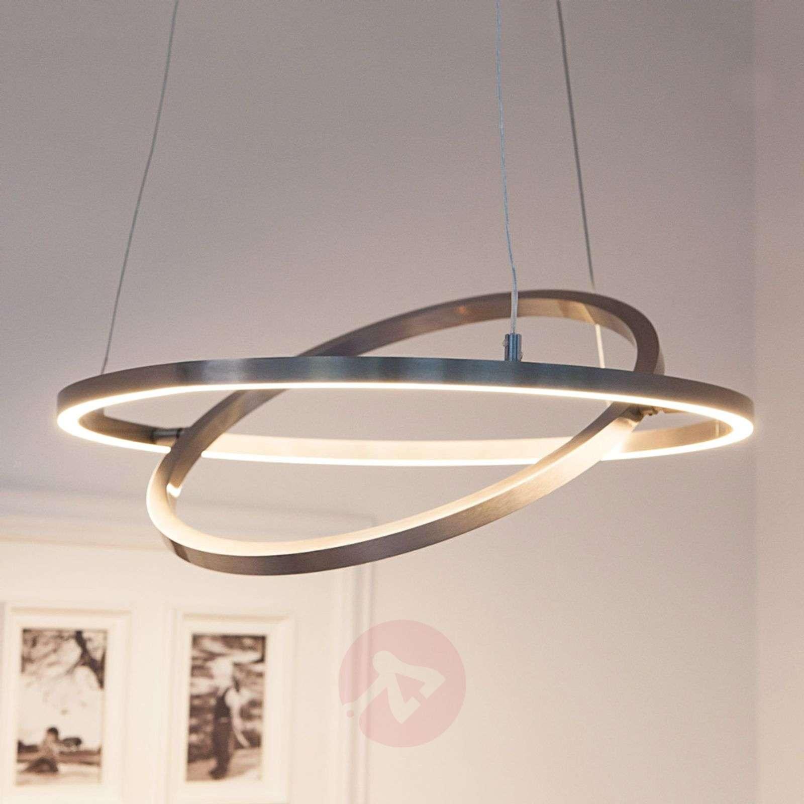 LED-riippuvalaisin Lovisa kahdella LED-renkaalla-7620002-02