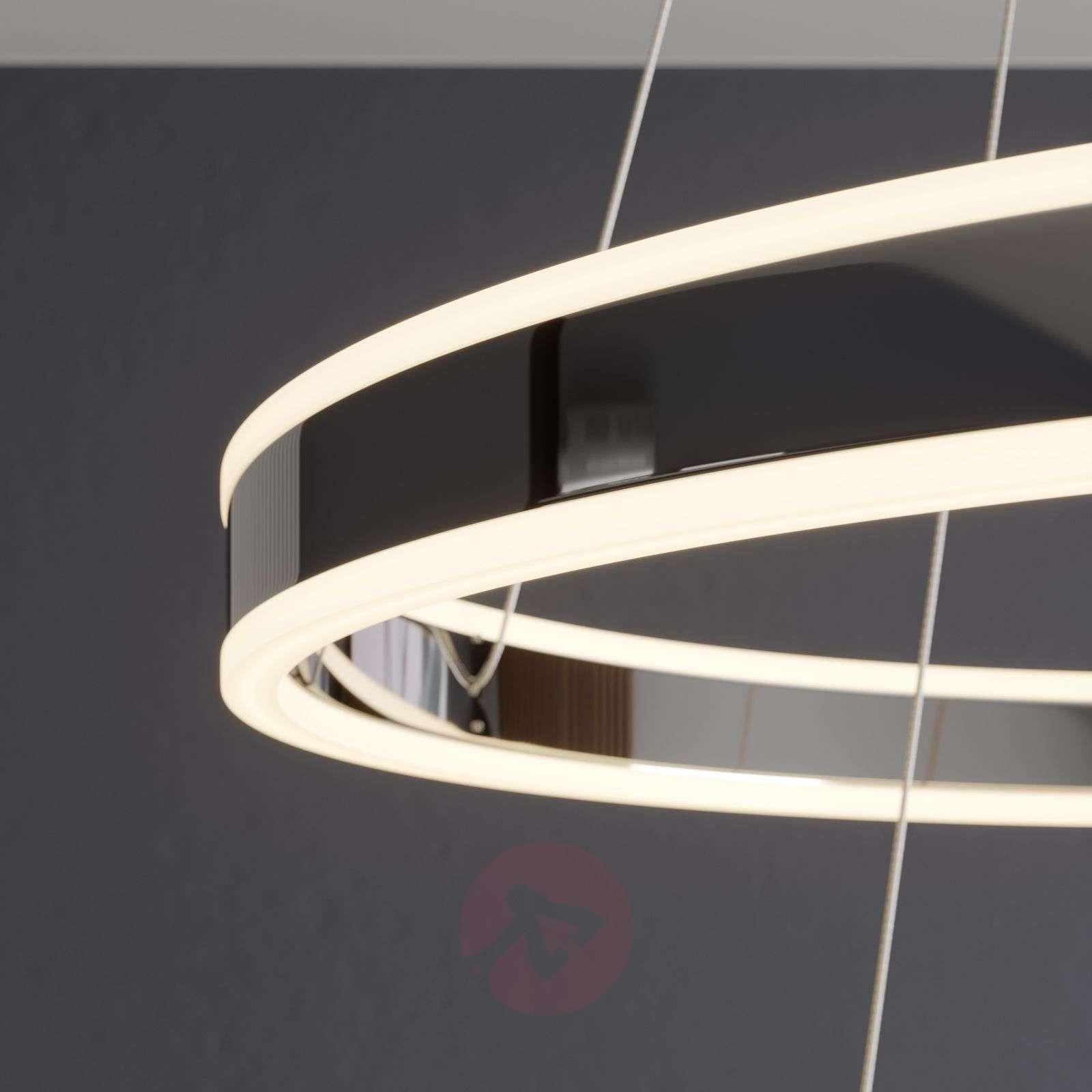 LED-riippuvalaisin Lyani, 2 rengasta allekkain-9621978-02