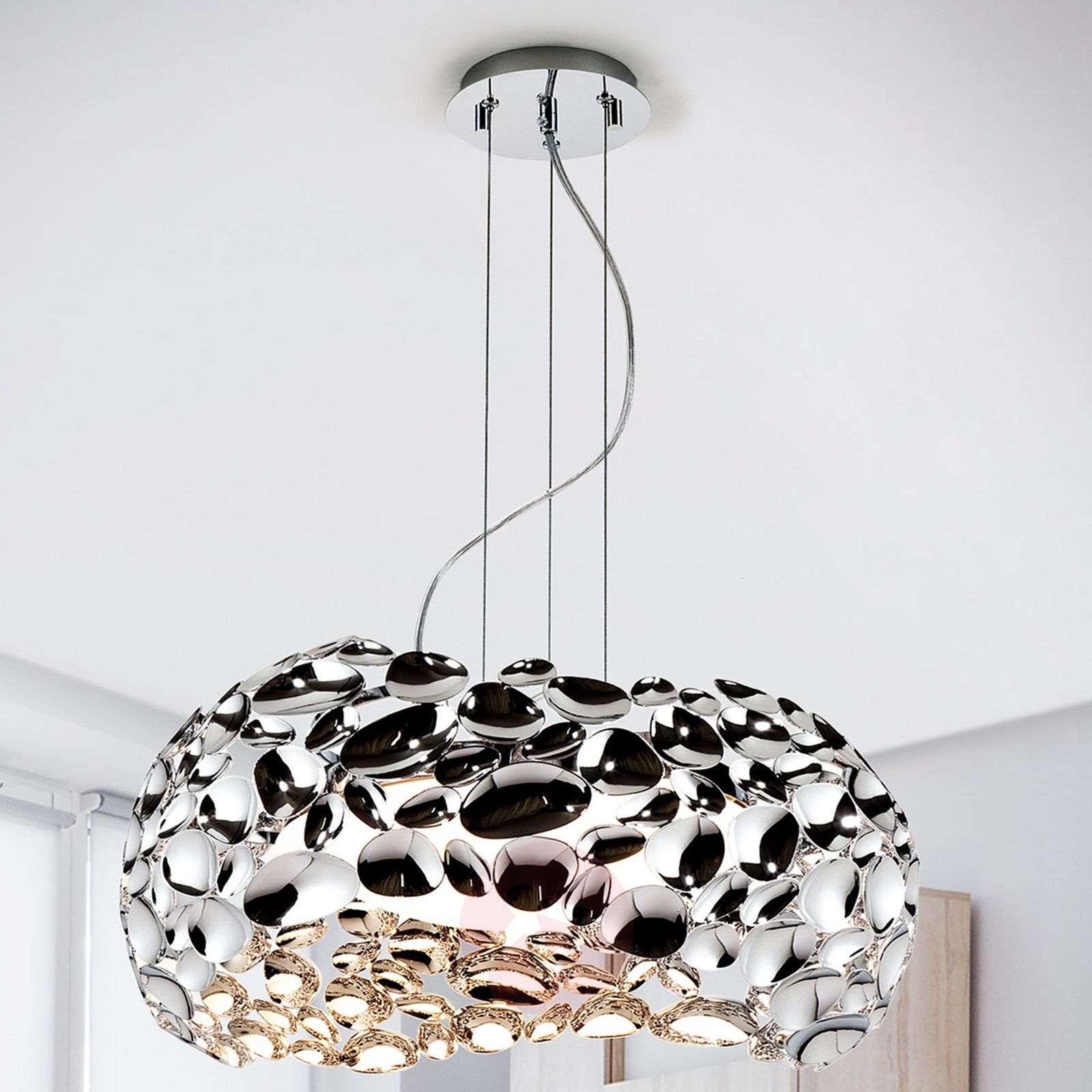 LED-riippuvalaisin Narisa 47 cm kiiltävä kromi-8582322-01
