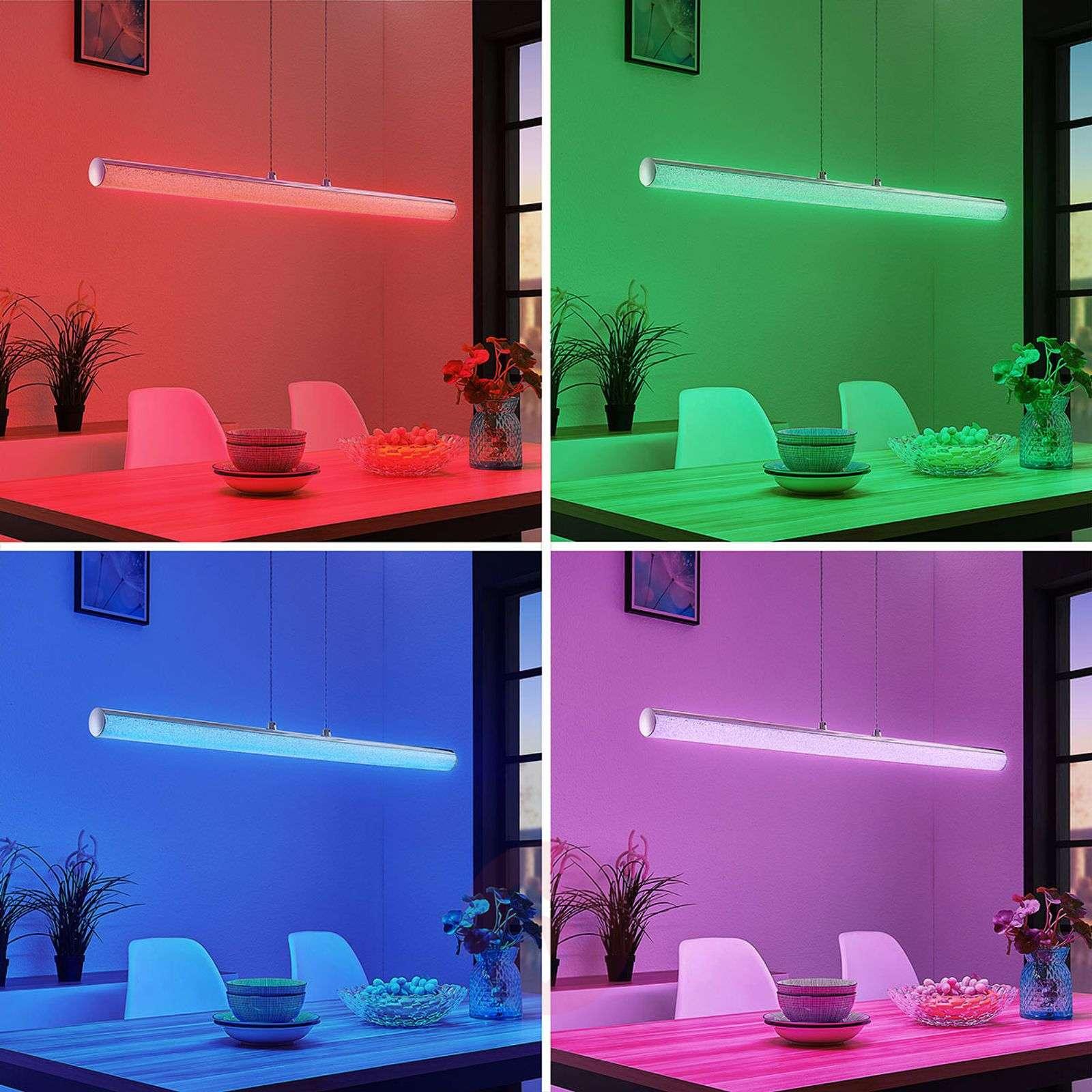 LED-riippuvalo Fria, sylinteri, RGB, kaukosäädin-9624334-01
