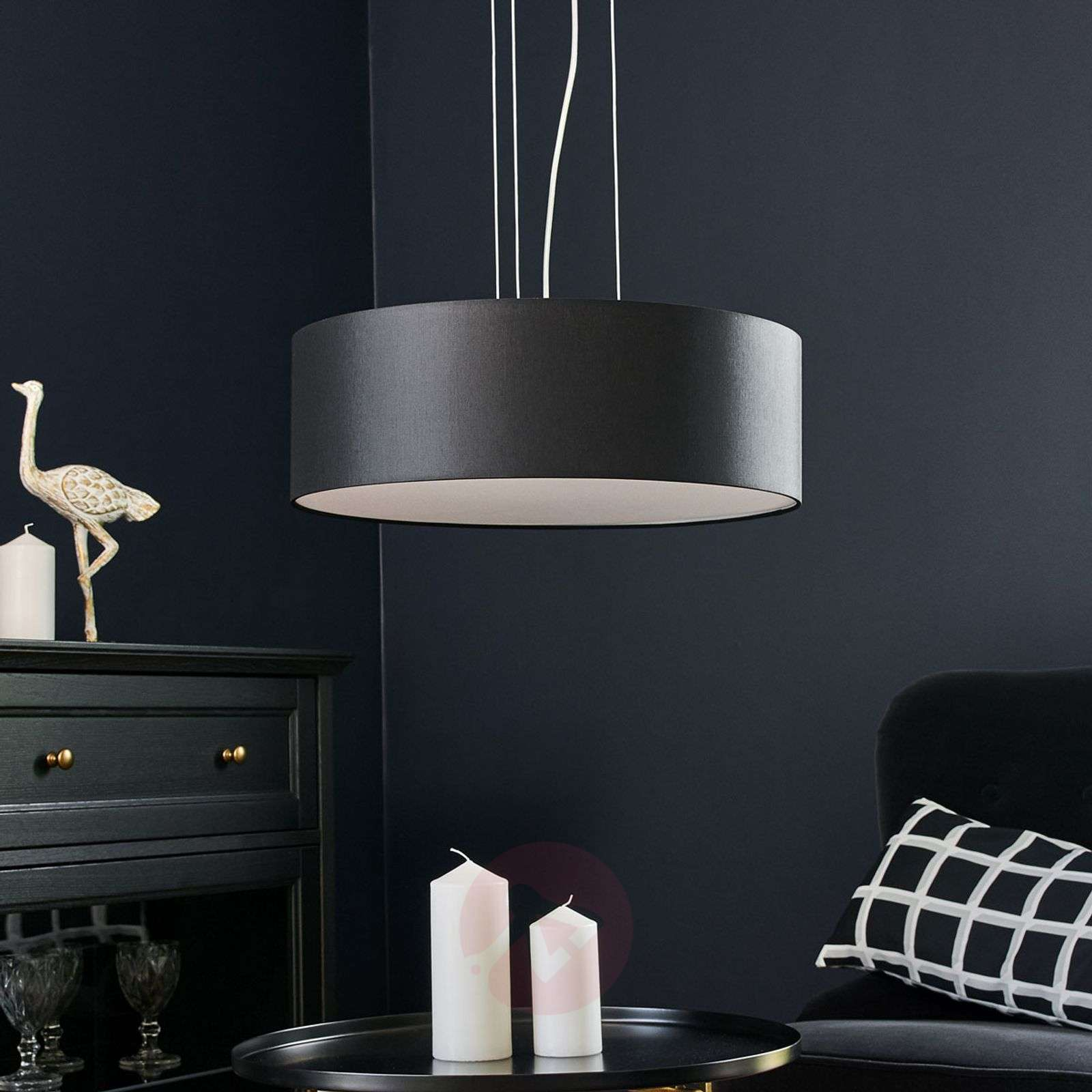 LED-riippuvalo Gala, 50 cm, musta sintsi-6722454-01