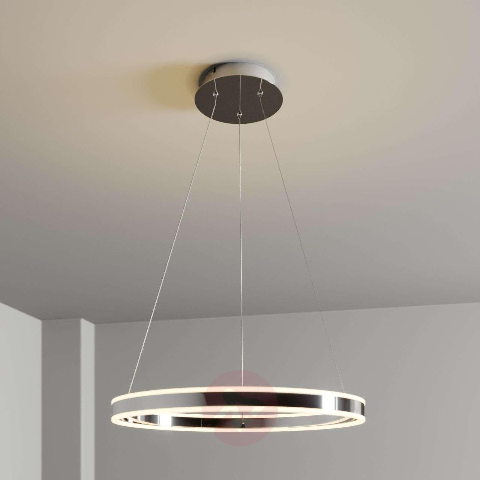 LED-riippuvalo Lyani, kromi, himmennettävä, 60 cm-9621976-01