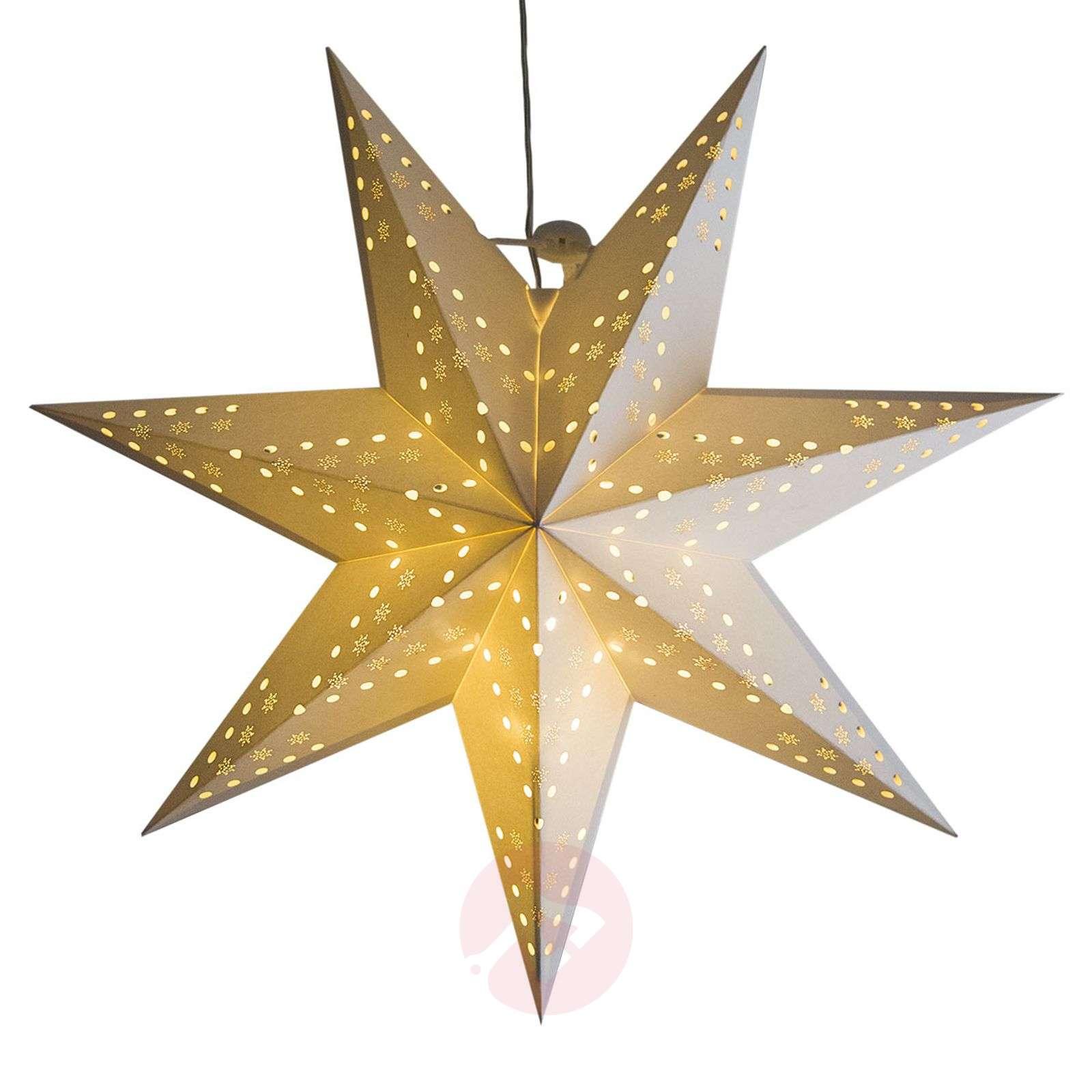 LED-roikkuva tähti Cellcandle valk. hiutalekuvio-1523432-01