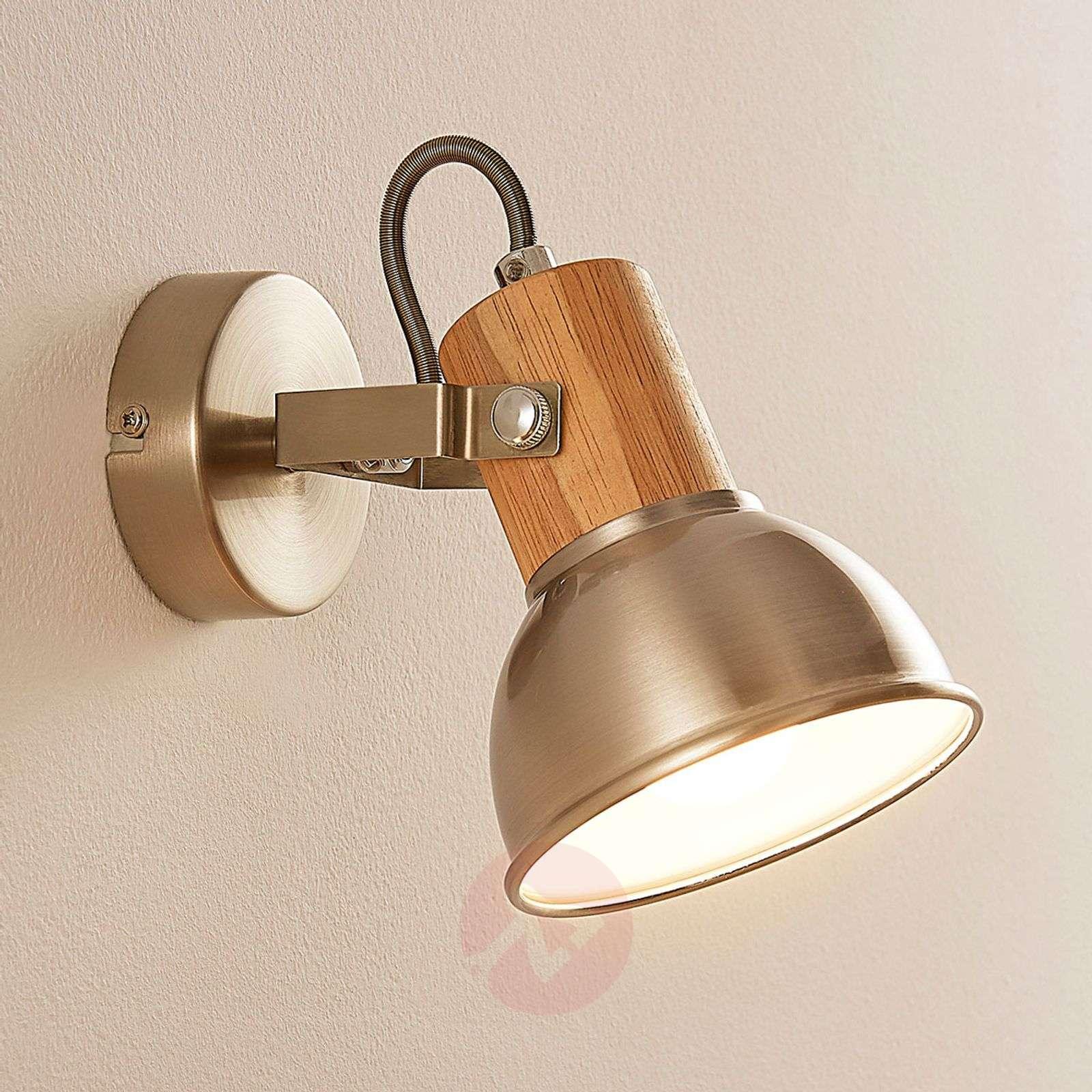 LED-seinä ja-kattospotti Dennis, puukoristeita-9621816-02