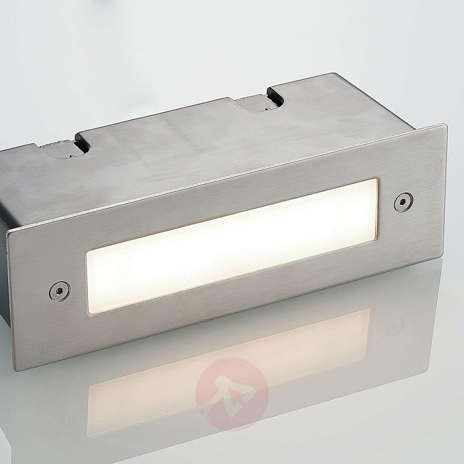 LED-seinäuppovalaisin Roni, terästä, 19,5cm-9969102-02