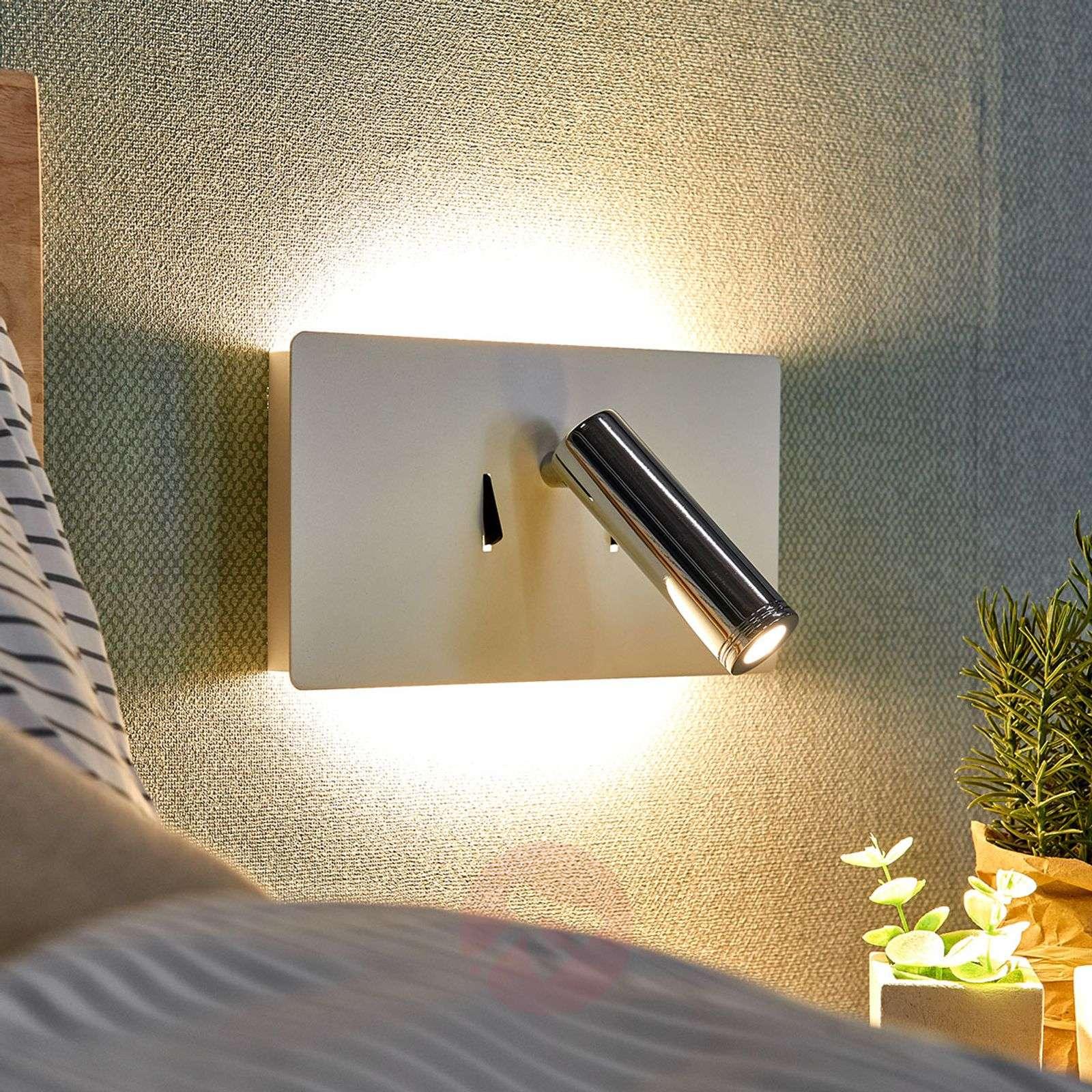 LED-seinävalaisin Elske, jossa lukuvalo-9976050-02