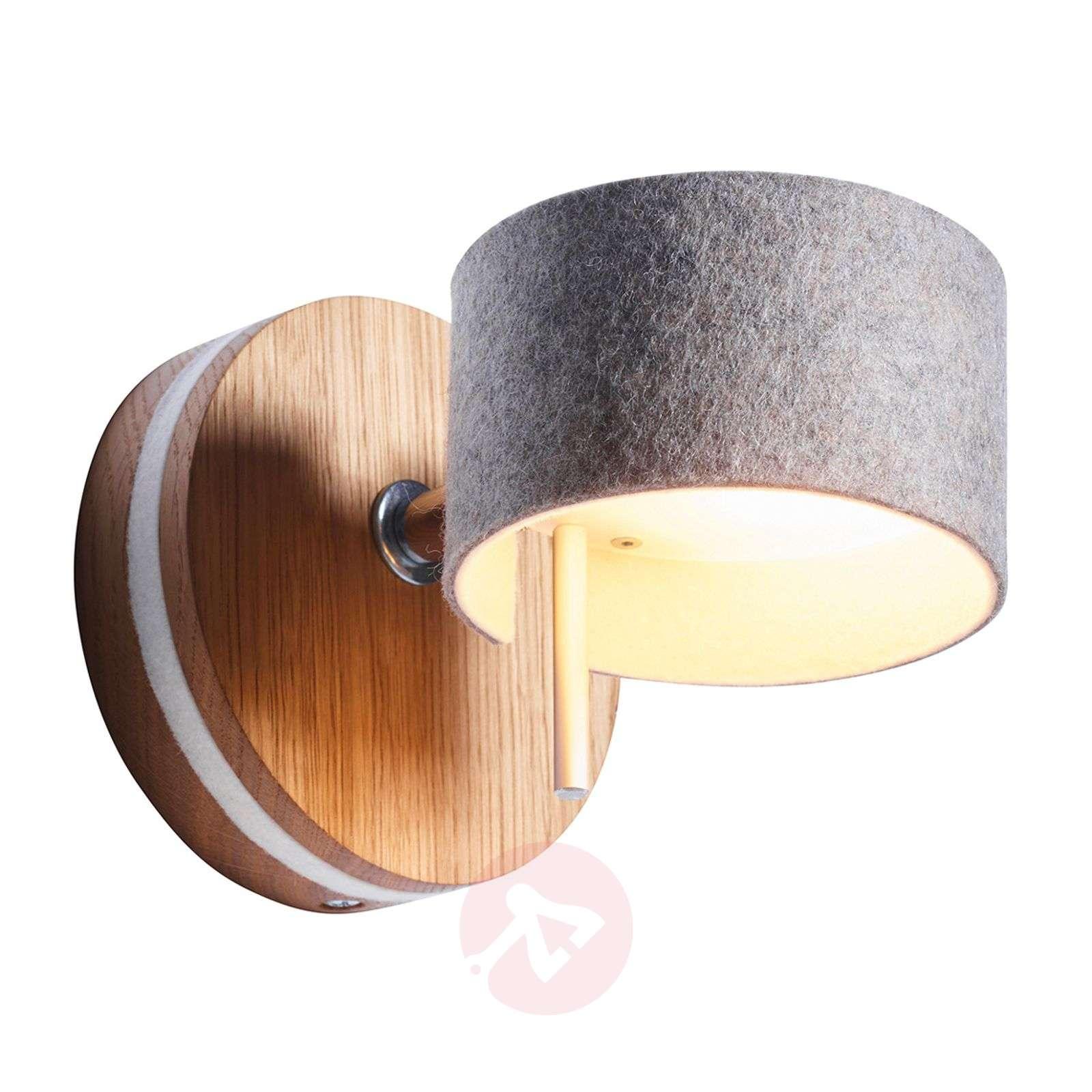 LED-seinävalaisin Frits, tammi ja huopa-2600522-01