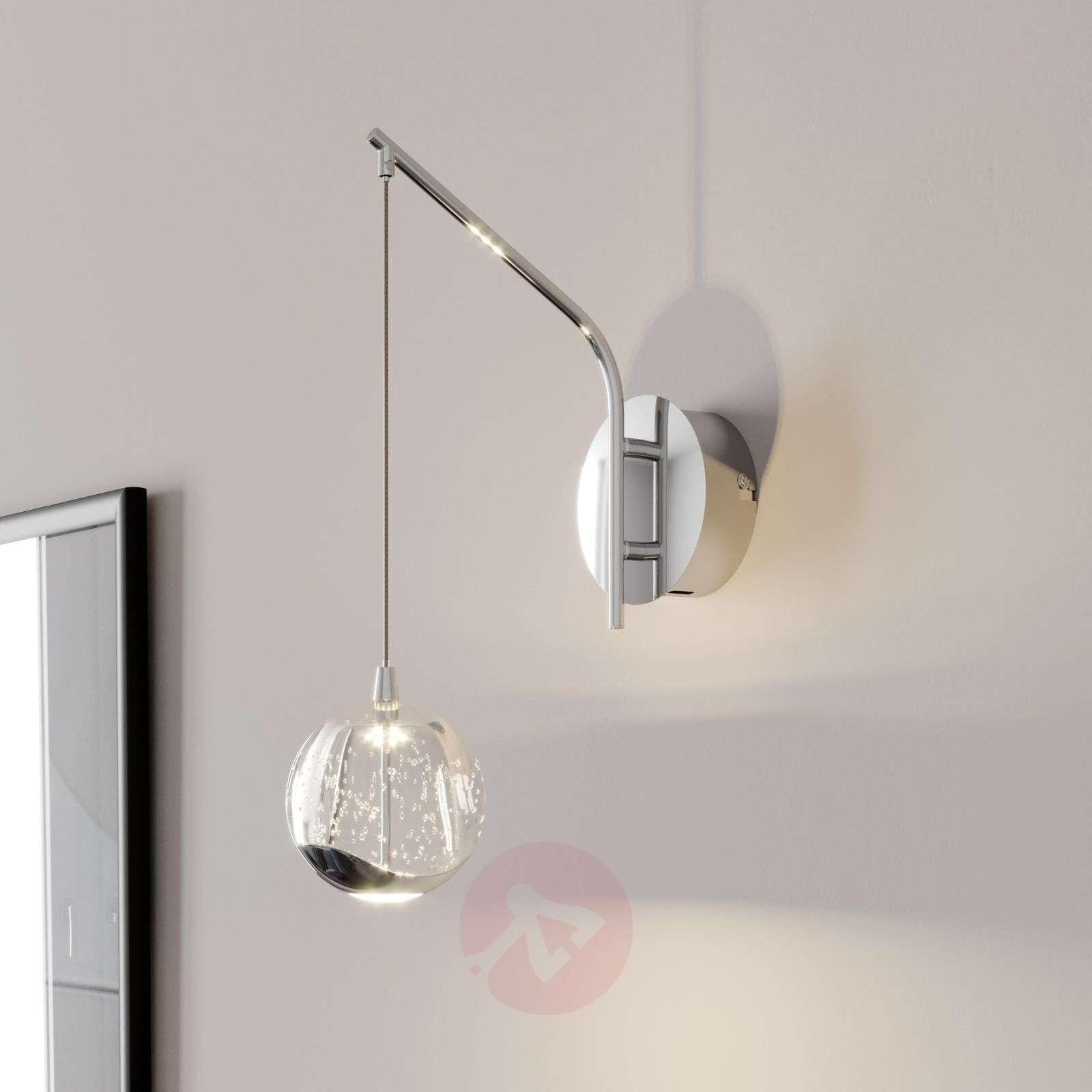 LED-seinävalaisin Hayley, riippuva pallo, kromi-9624363-01