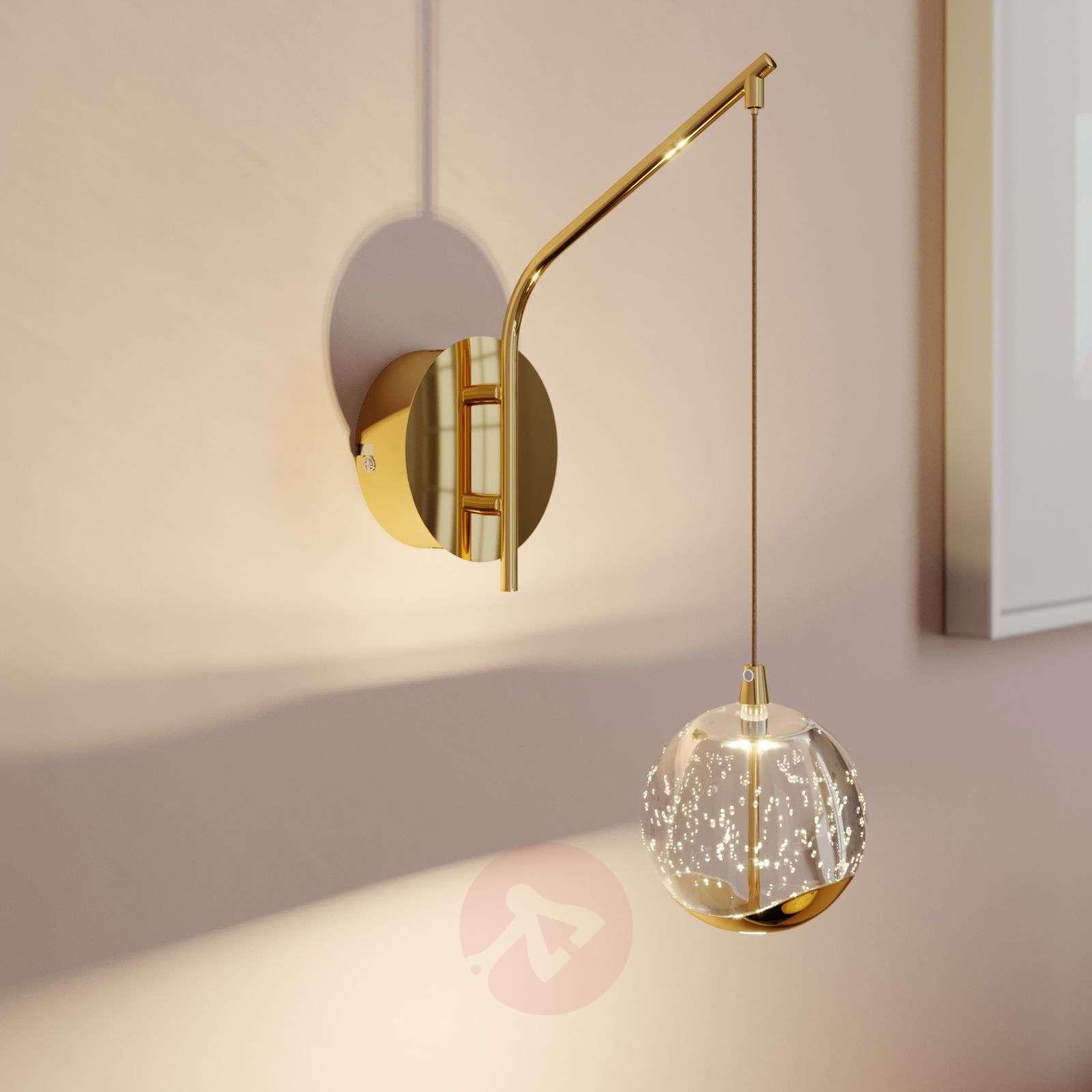LED-seinävalaisin Hayley, riippuva pallo, kulta-9624364-01