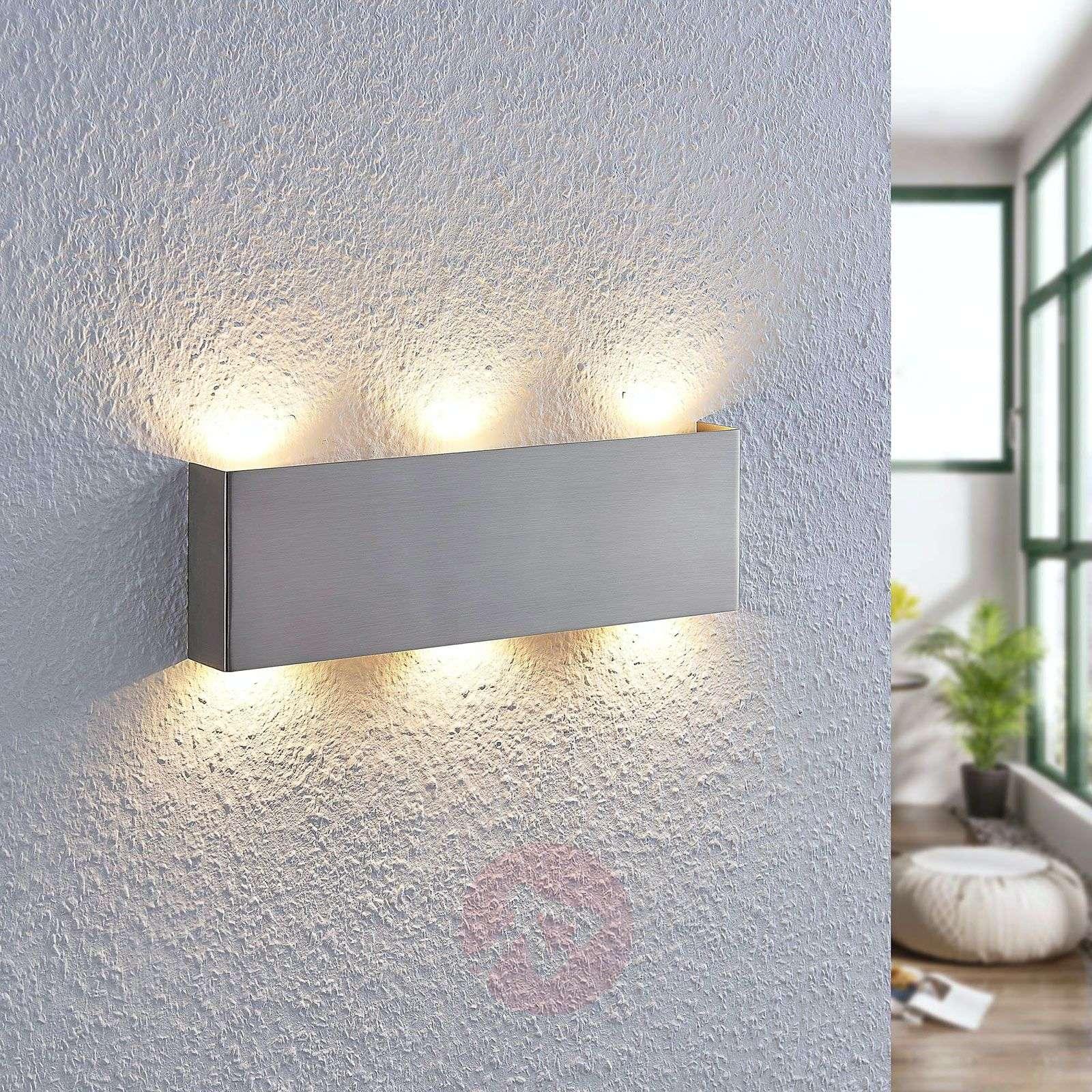 LED-seinävalaisin Manon, satin.nikkeli, 35 cm-9633047-02