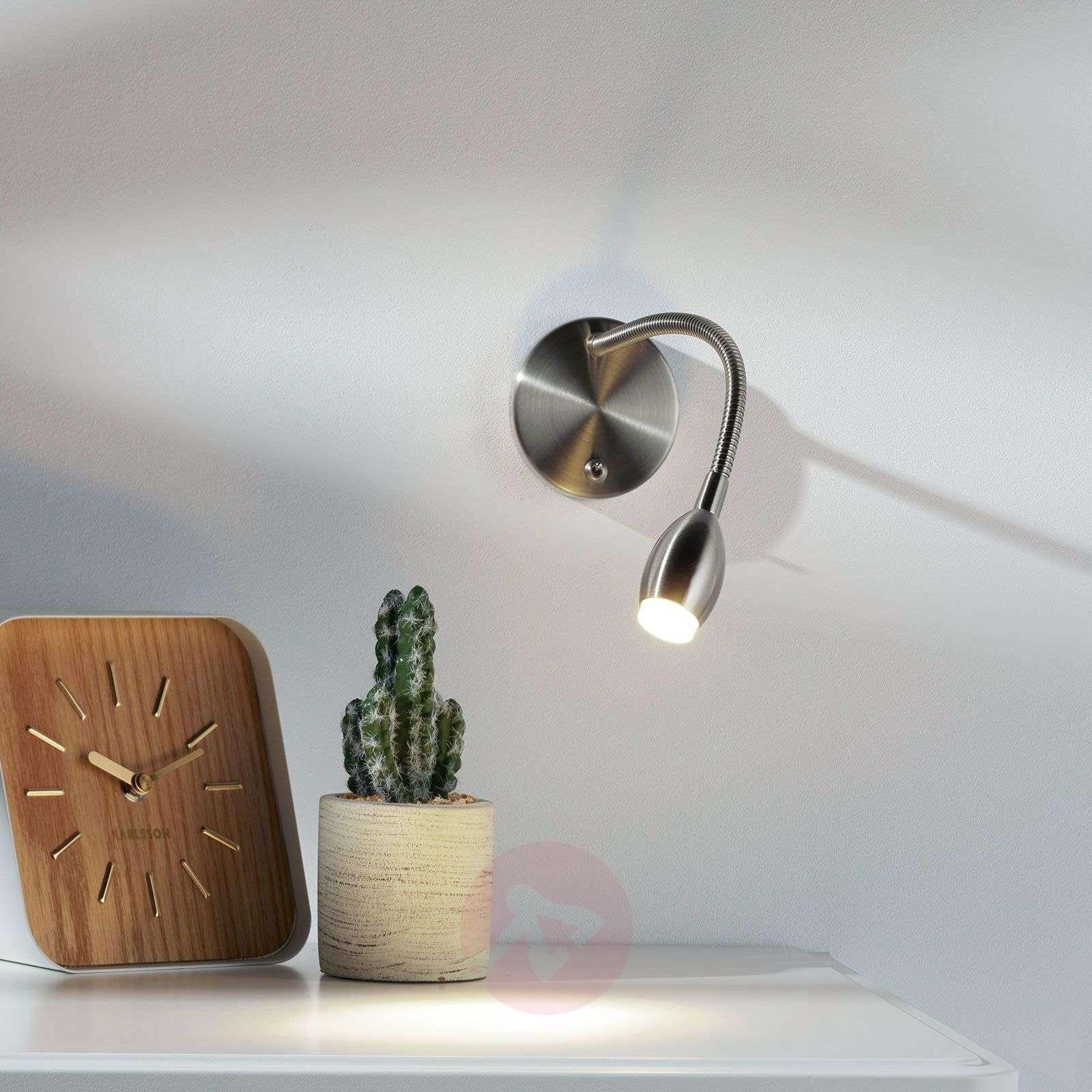 LED-seinävalaisin MARTA säätövarrella, nikkeli-1050009-01
