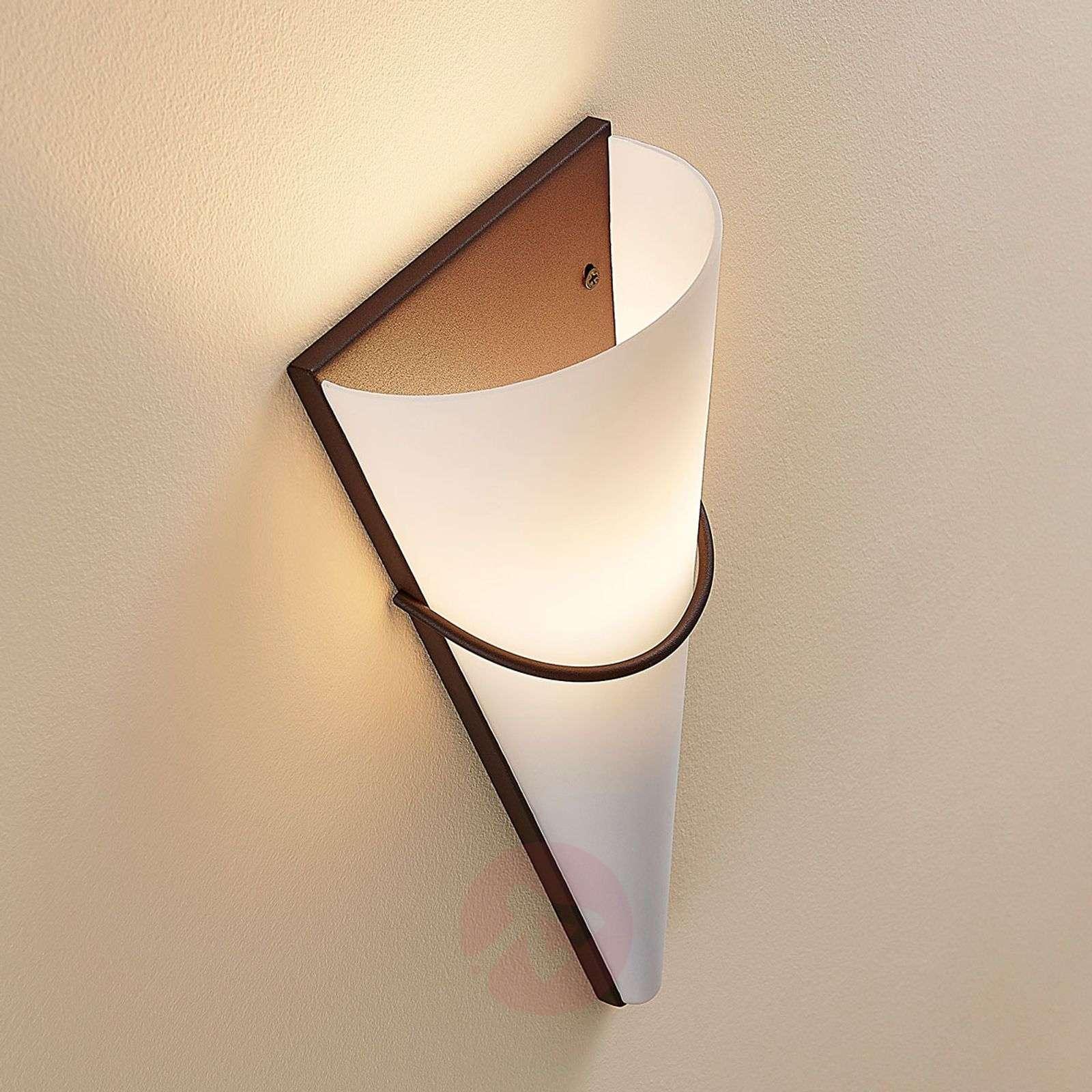 LED-seinävalaisin Melek, ruosteenvärinen koriste-9620367-01