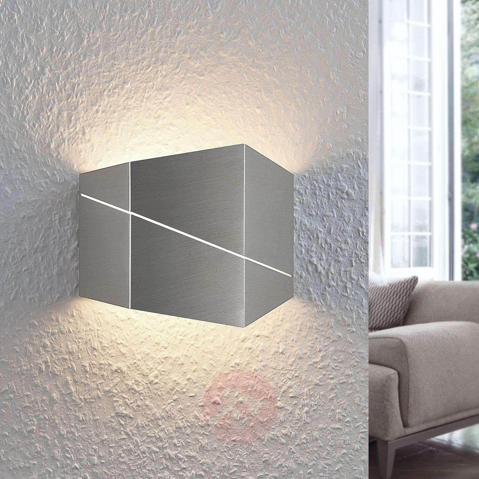 LED-seinävalaisin Nikolae, 18 cm, matta nikkeli-8032131-01