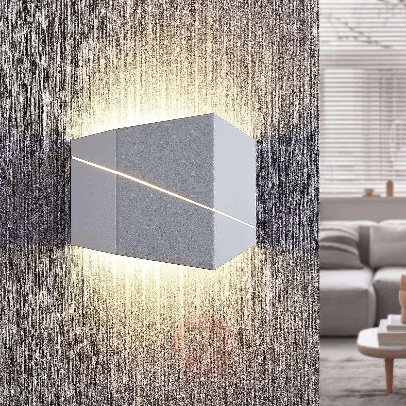 LED-seinävalaisin Nikolae, 18 cm, valkoinen-8032132-01
