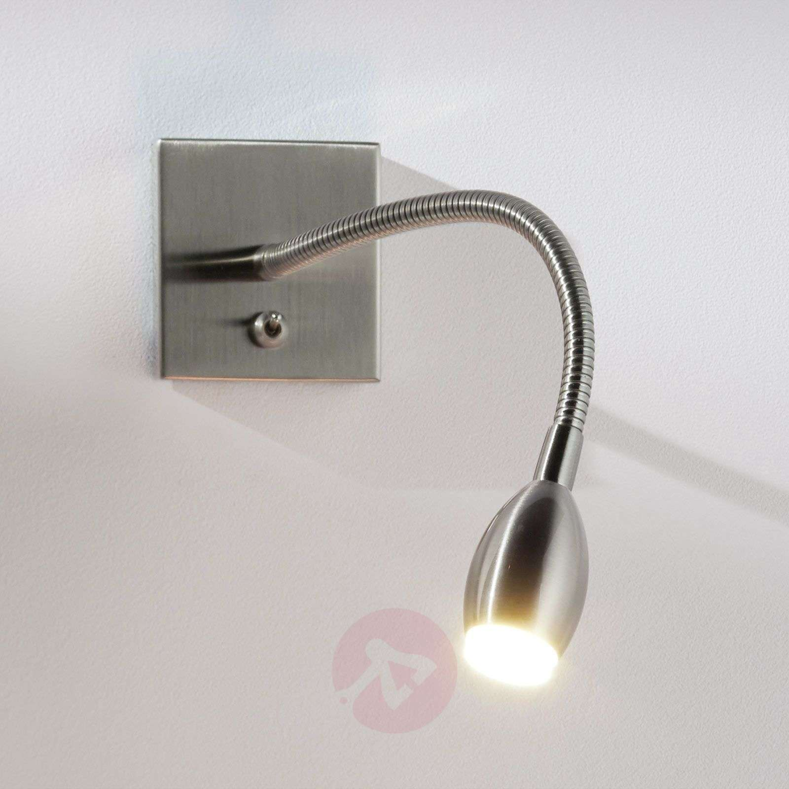 LED-seinävalaisin PILAR säätövarrella, nikkeli-1050007-02