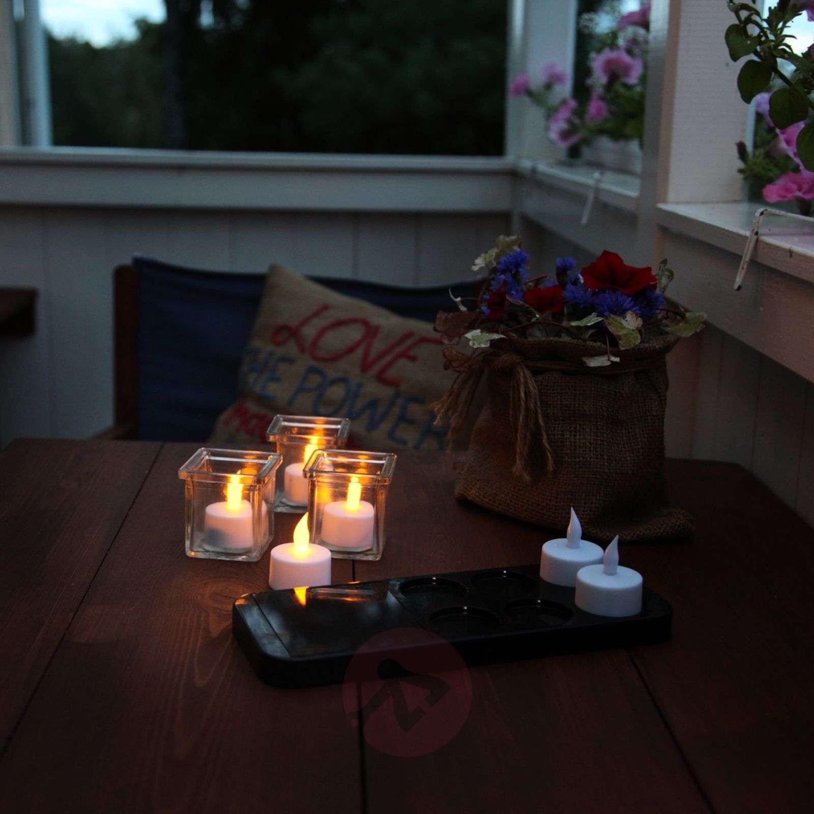LED-T-Light, 6 tuikkua, aurinkokäytt. latausasema-1522995-01