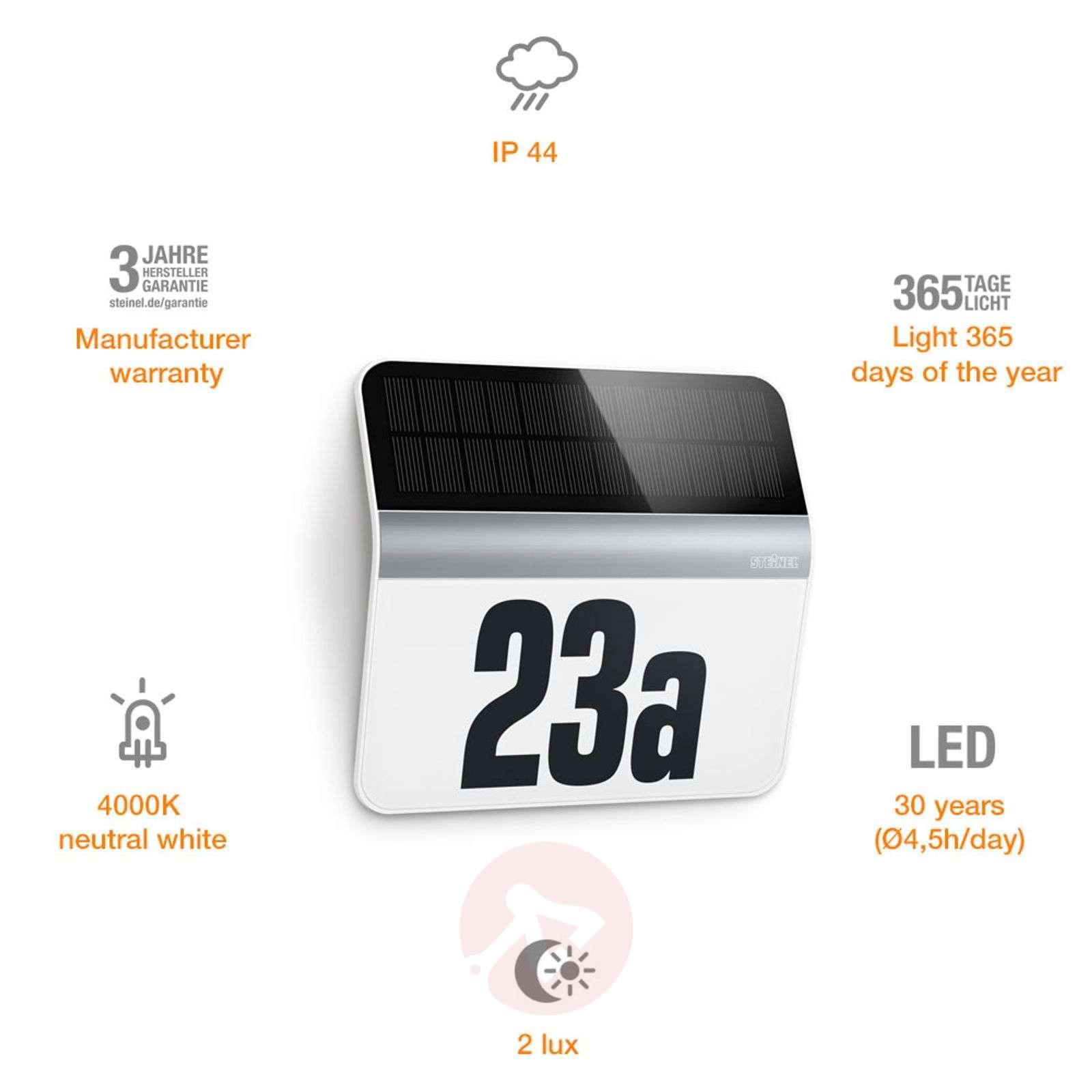 LED-talonumerovalaisin XSolar LH-N, ruostum. teräs-8505646-01
