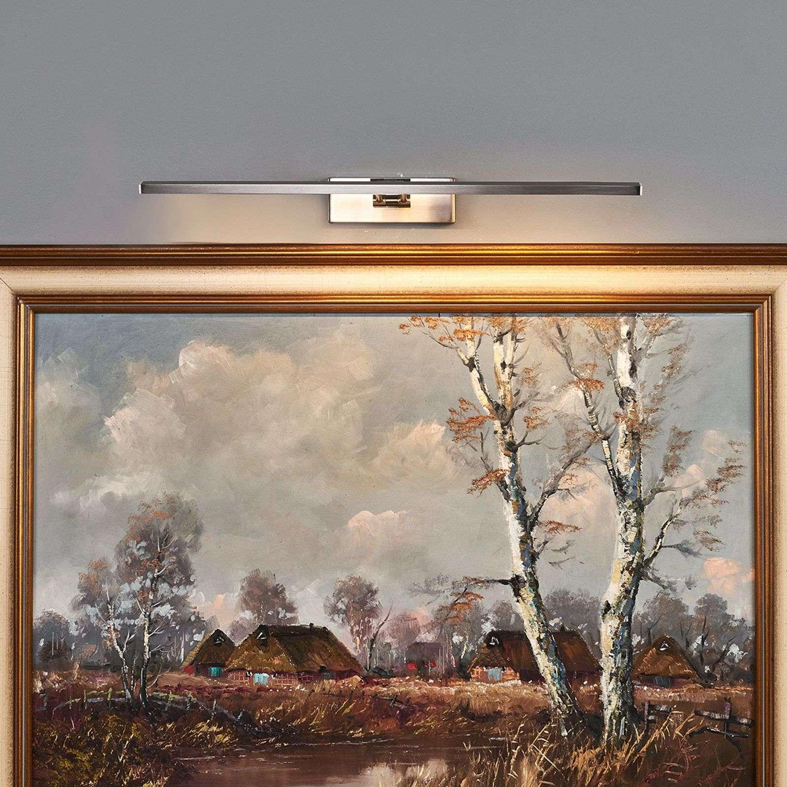 LED-tauluvalaisin Emilias, matta nikkeli, 51 cm-9644081-01