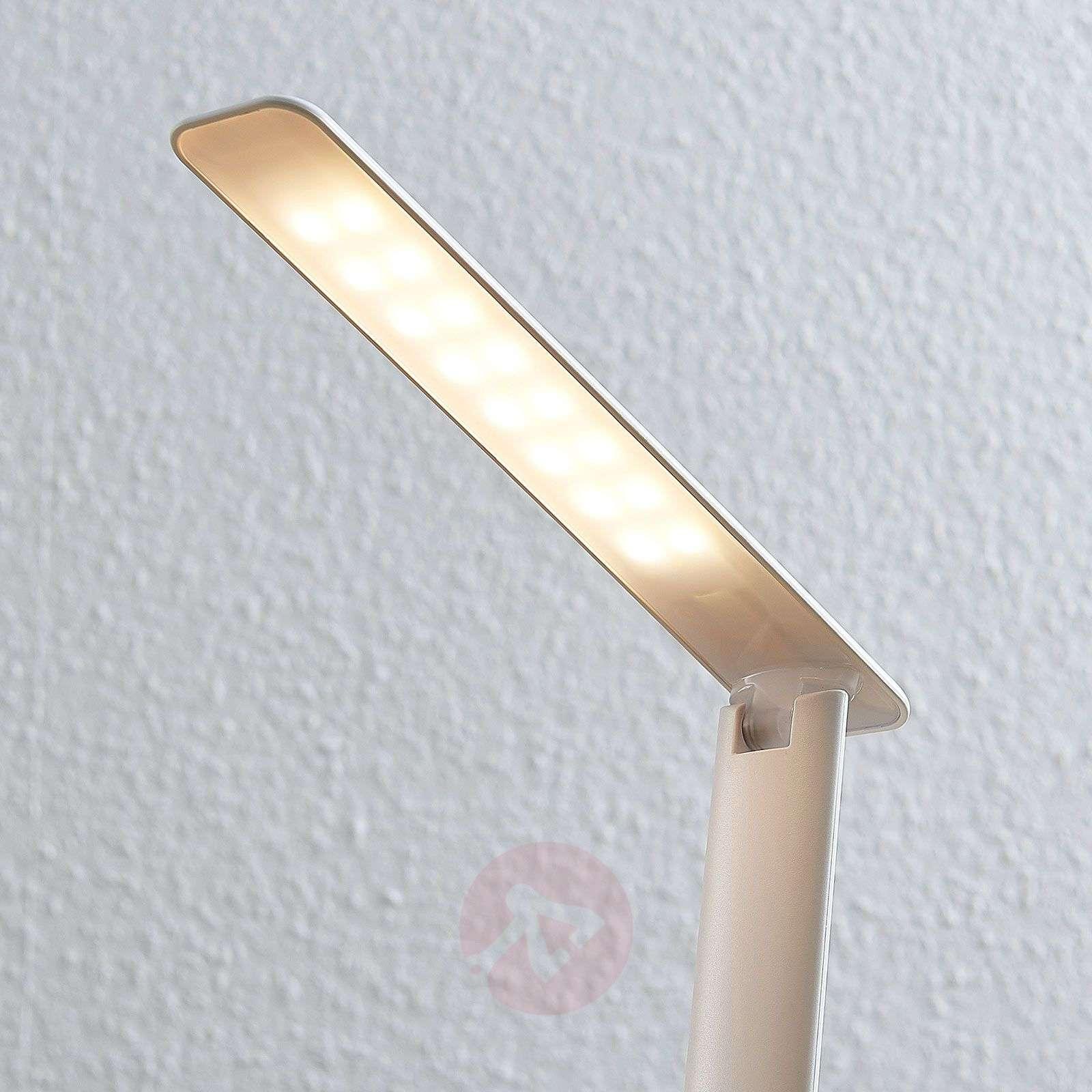 LED-työpöytälamppu Ludmilla, näyttö, valkoinen-9643077-02
