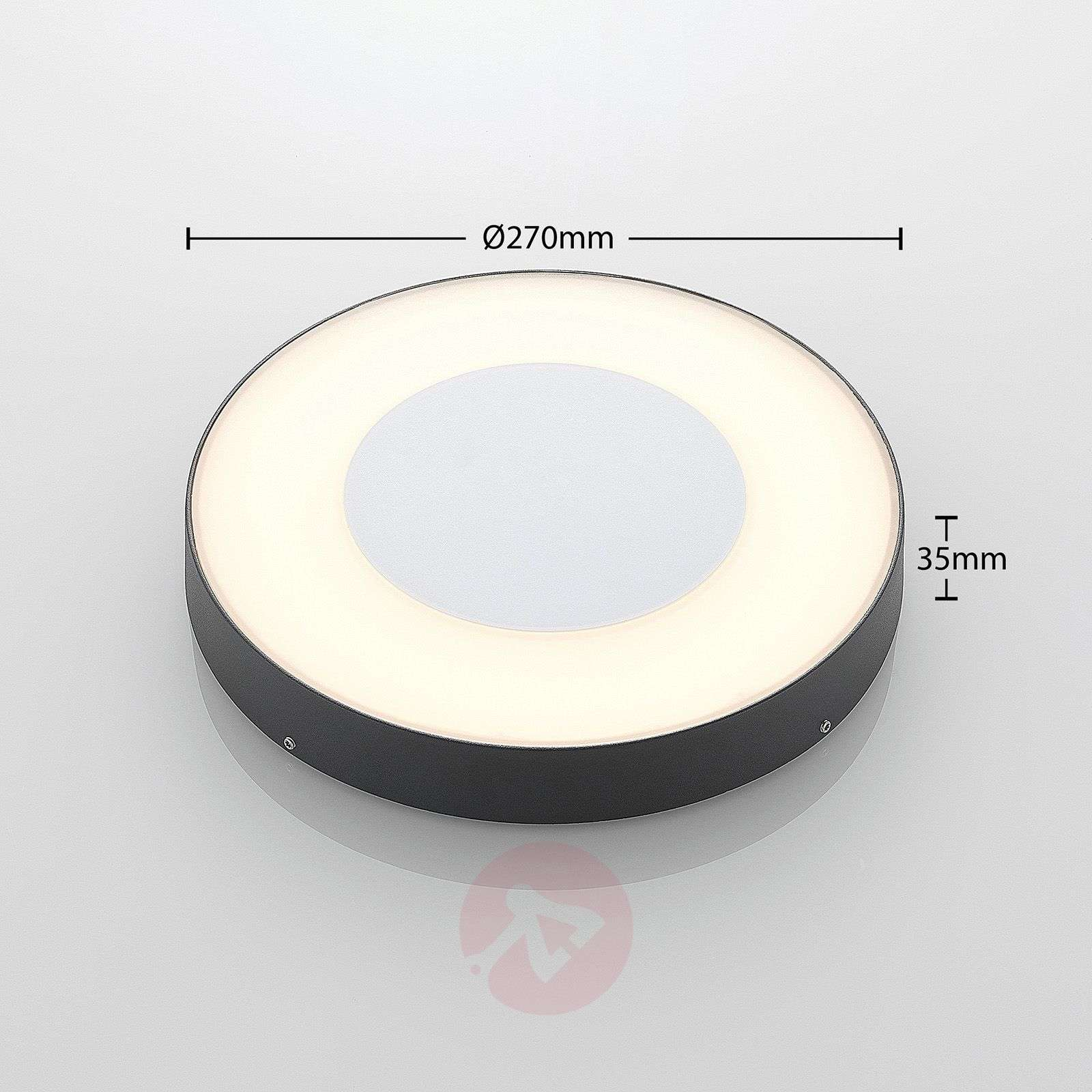 LED-ulkokattovalaisin Sora, pyöreä, sensori-9969107-02