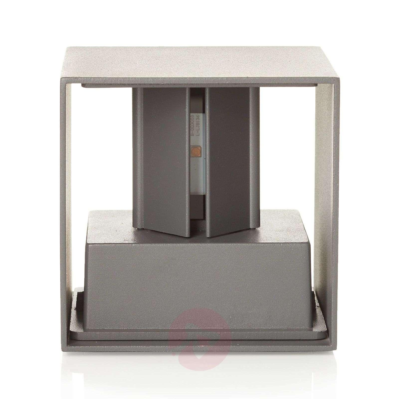 LED-ulkoseinälamppu Cube antrasiitti-7255467-01