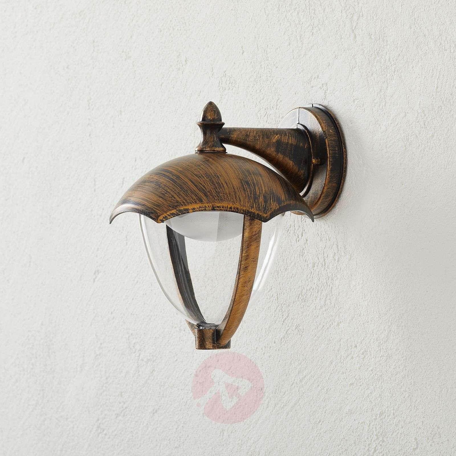 LED-ulkoseinälamppu Gracht alasvalo ruosteen väri-9005320-02