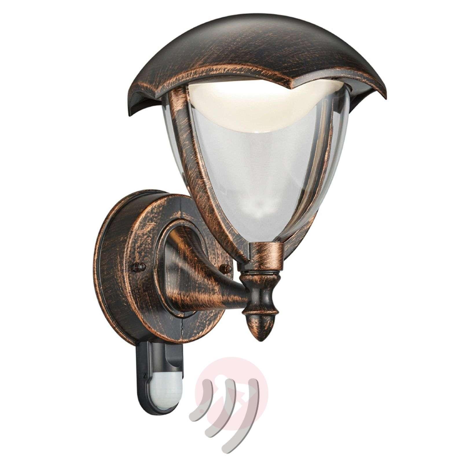 LED-ulkoseinälamppu Gracht liikeilmaisin ruoste-9005322-01