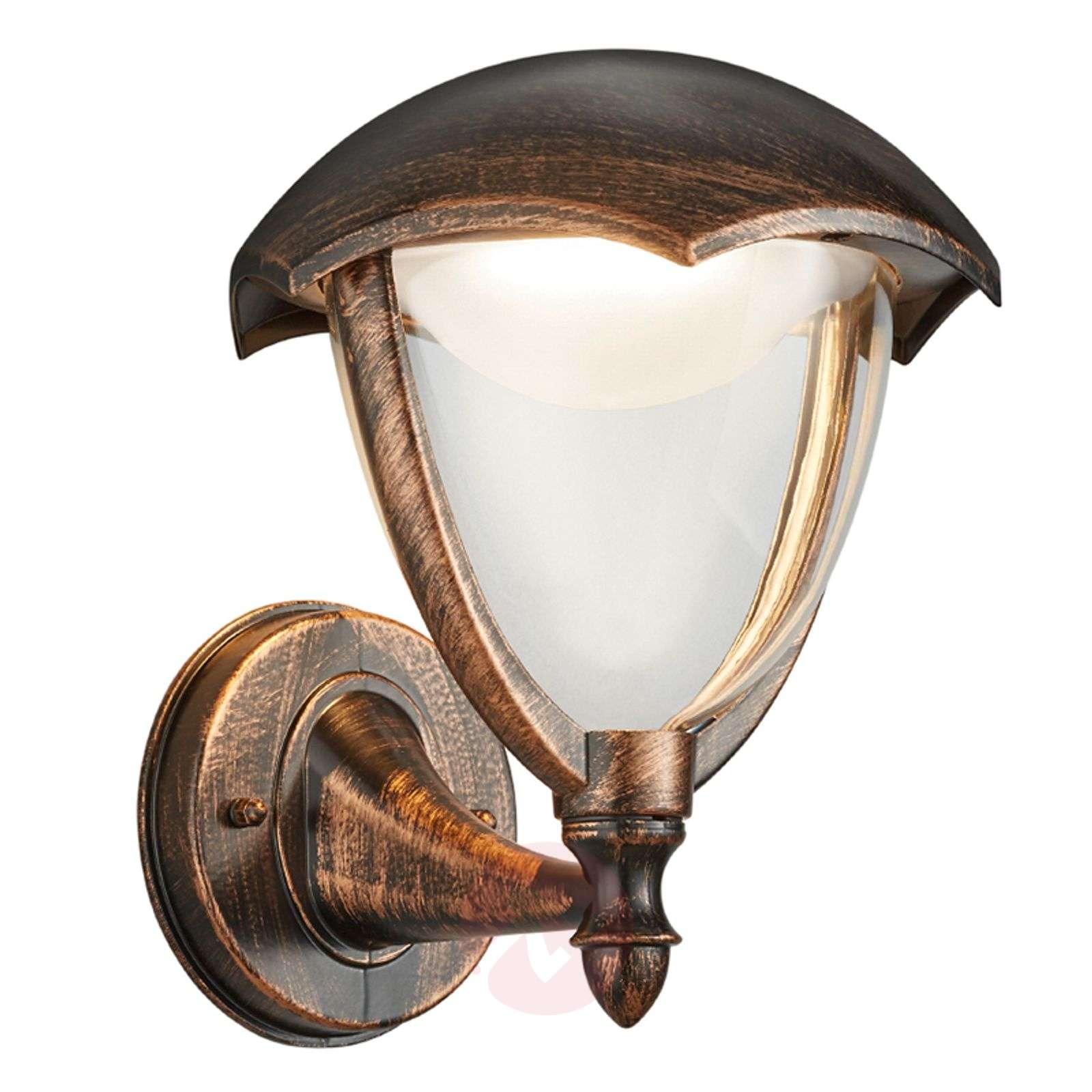 LED-ulkoseinälamppu Gracht ylösvalo ruosteen väri-9005318-01