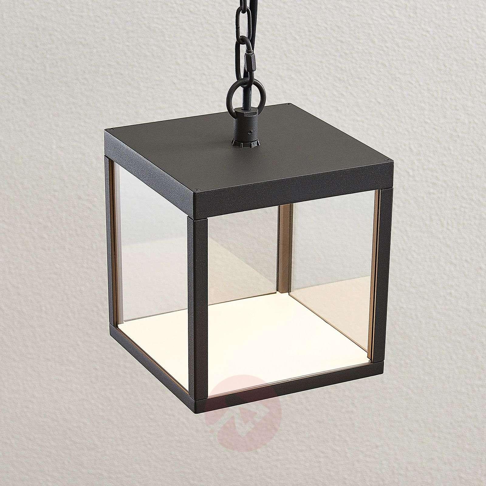 LED-ulkoseinävalaisin Cube lasivarjostimella 18 cm-9619165-02