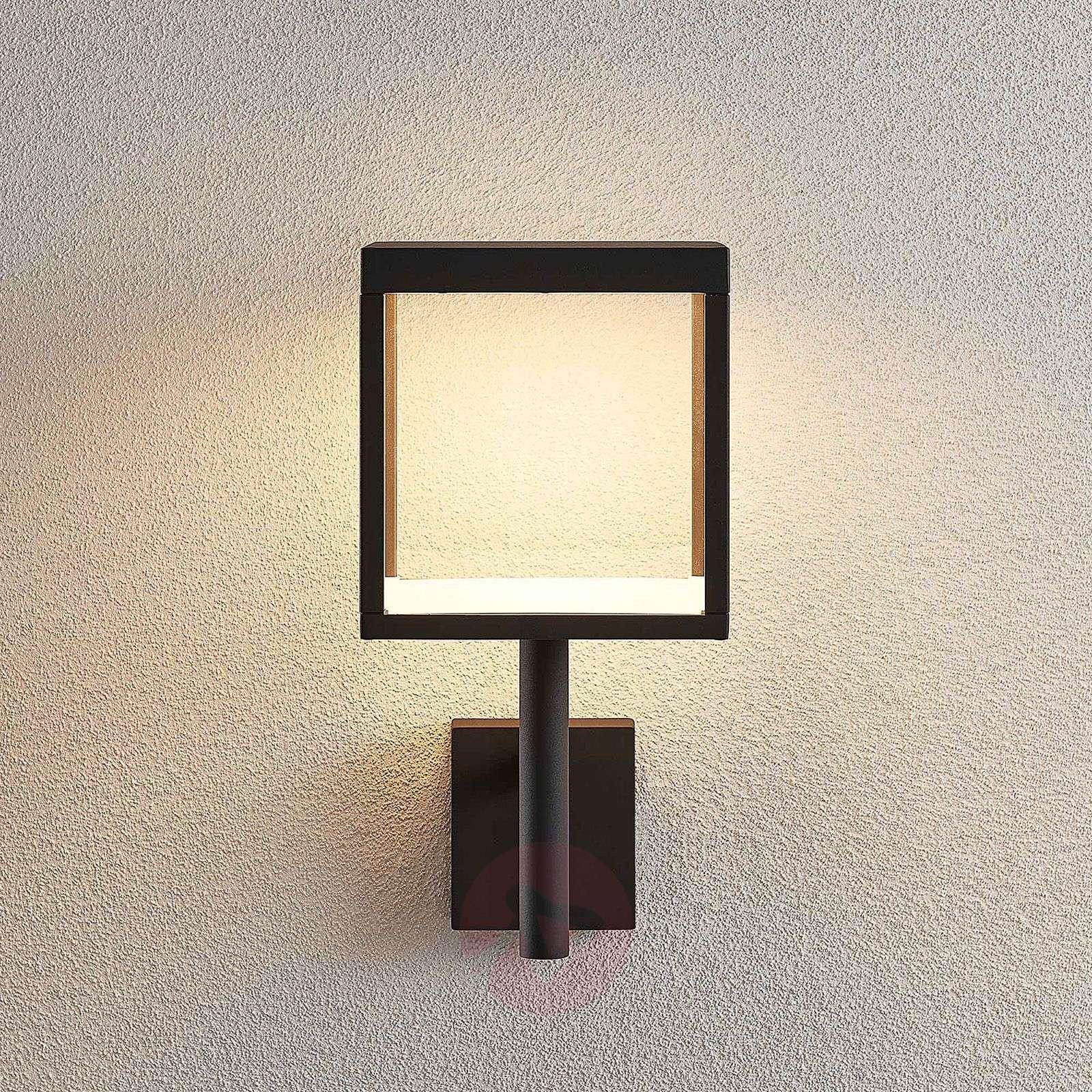 LED-ulkoseinävalaisin Cube lasivarjostimella-9619159-02