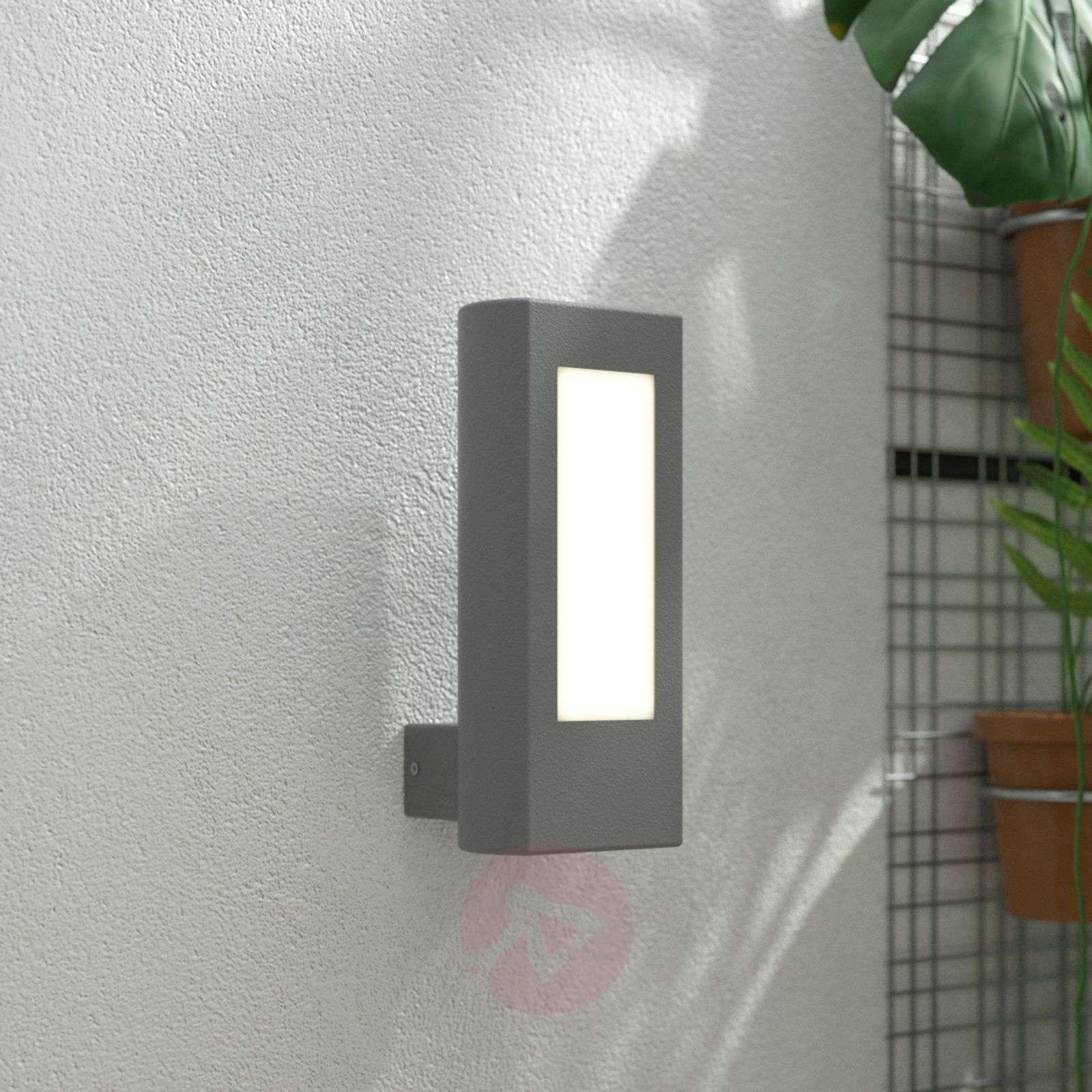 LED-ulkoseinävalaisin Mhairi, kulmikas