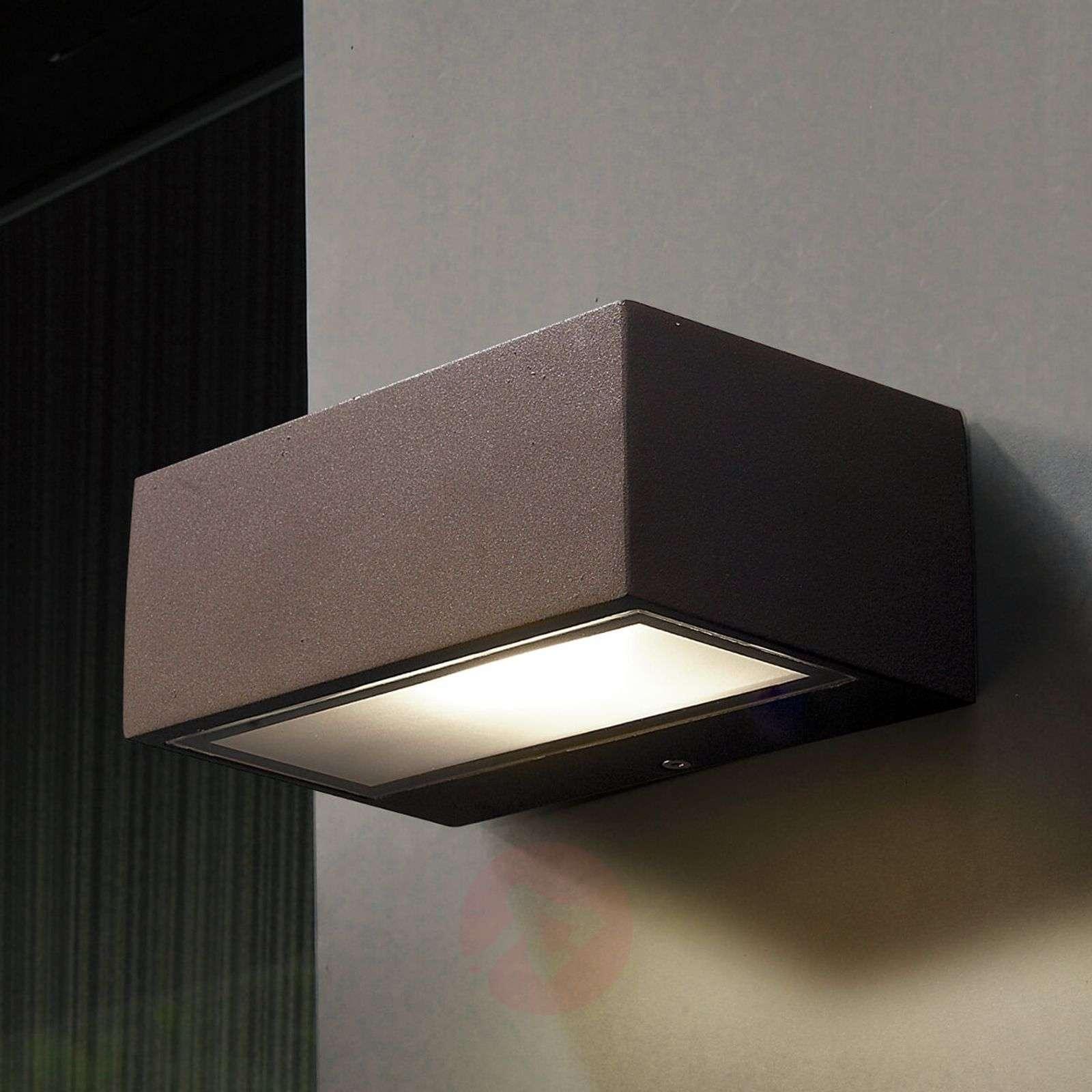 LED-ulkoseinävalaisin Nemesis, ruskea-6025348-01