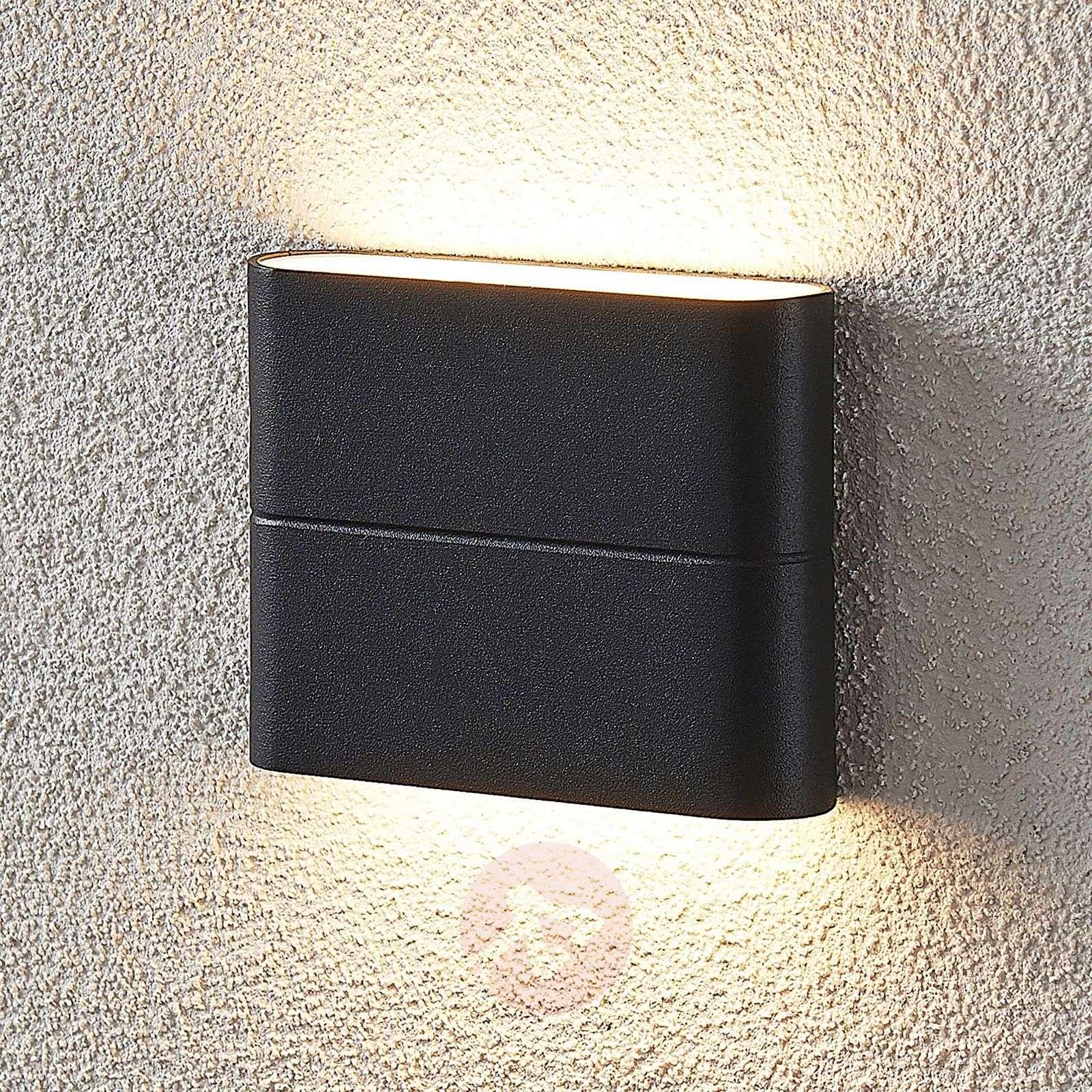 LED-ulkoseinävalaisin Salka, tummanharmaa, 11,5 cm-9969134-02